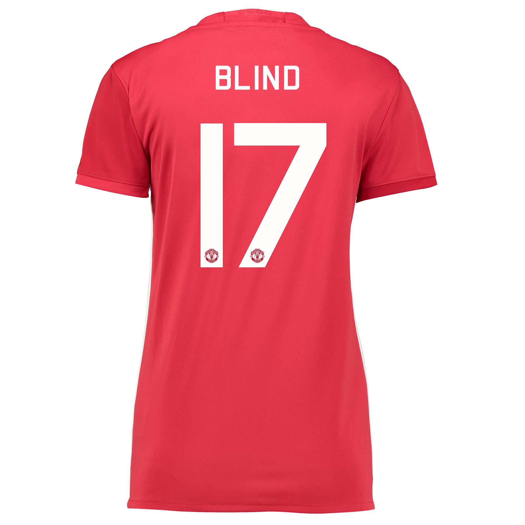 Manchester United Cup Home Shirt 2016-17 - Womens with Blind 17 printi