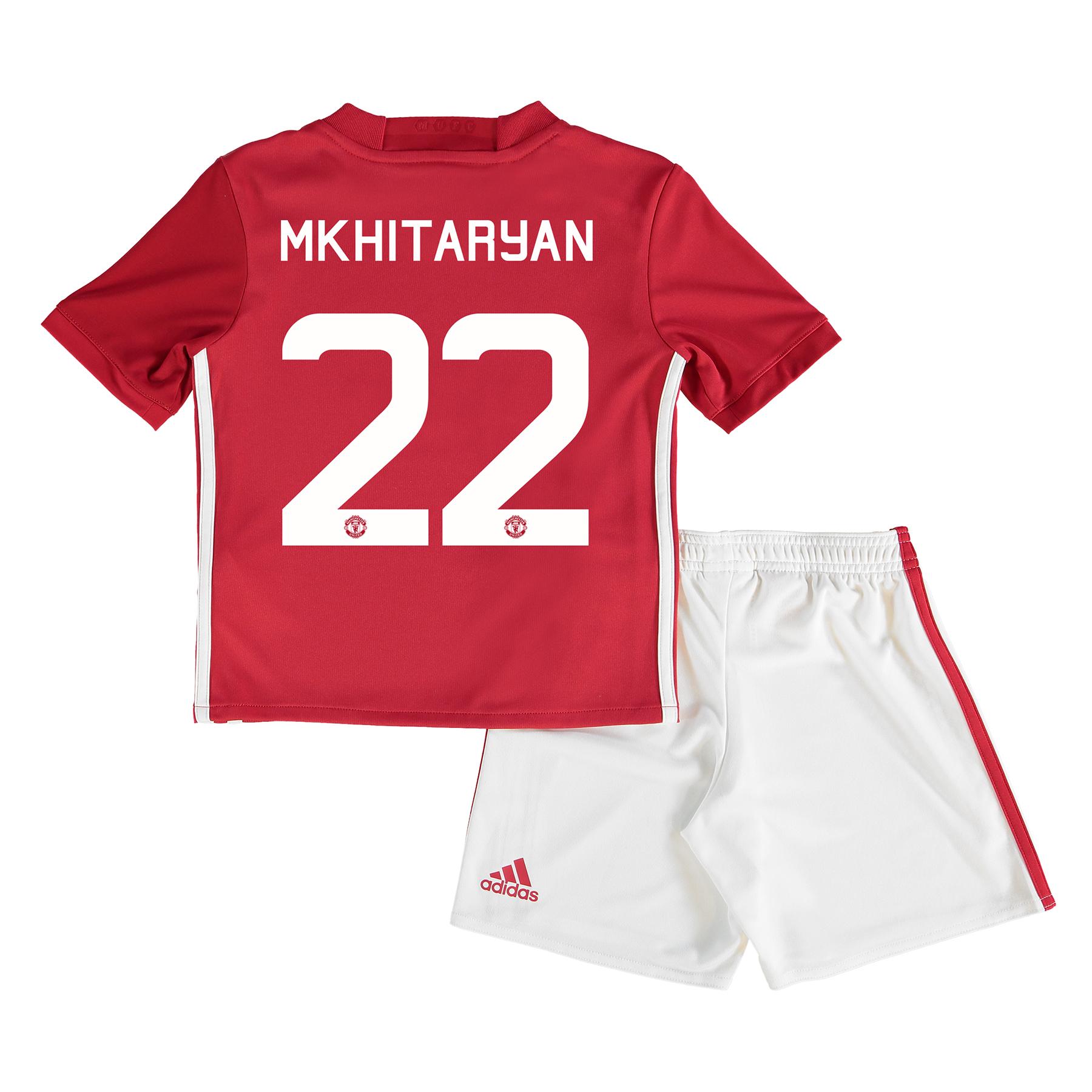 Manchester United Cup Home Mini Kit 2016-17 with Mkhitaryan 22 printin