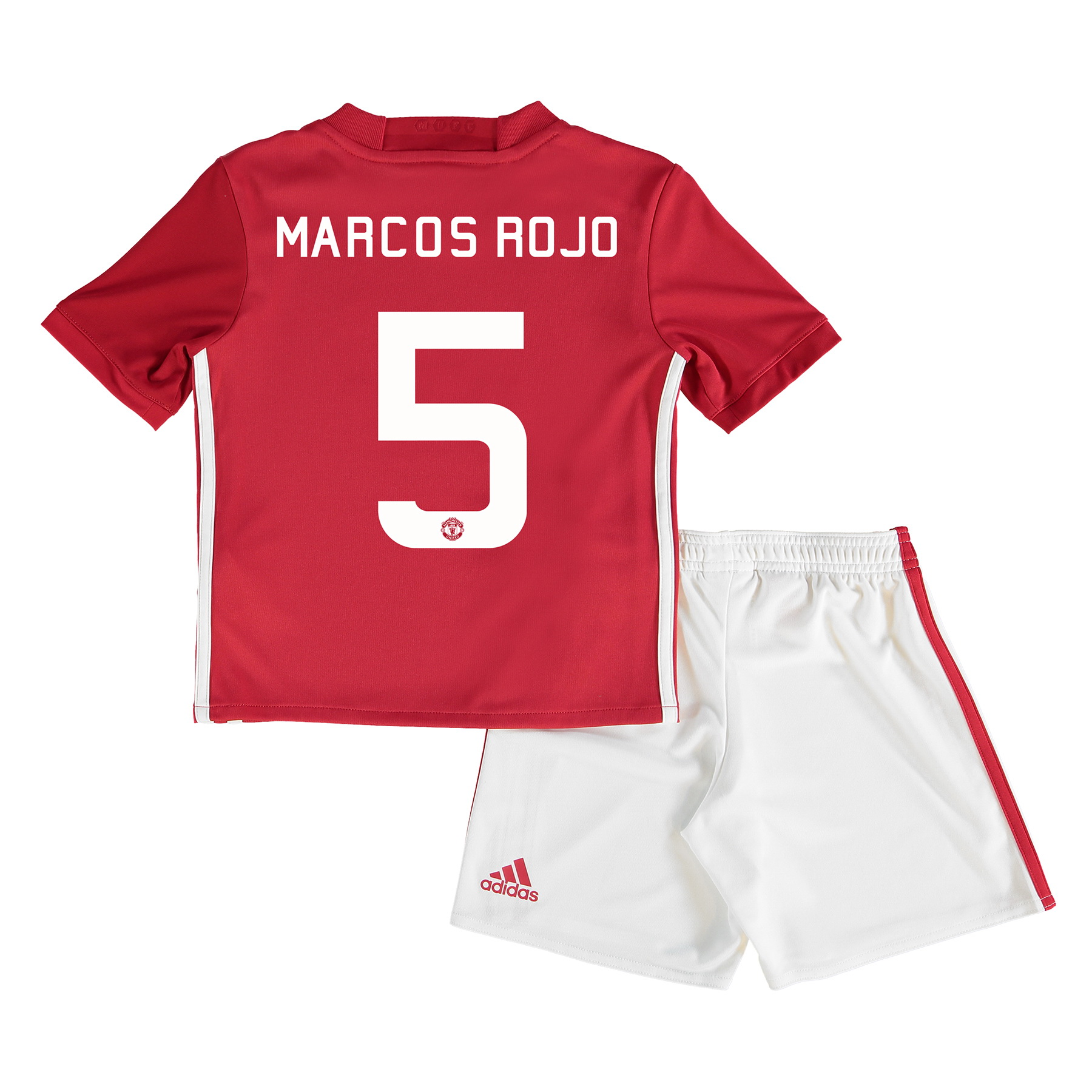 Manchester United Cup Home Mini Kit 2016-17 with Marcos Rojo 5 printin