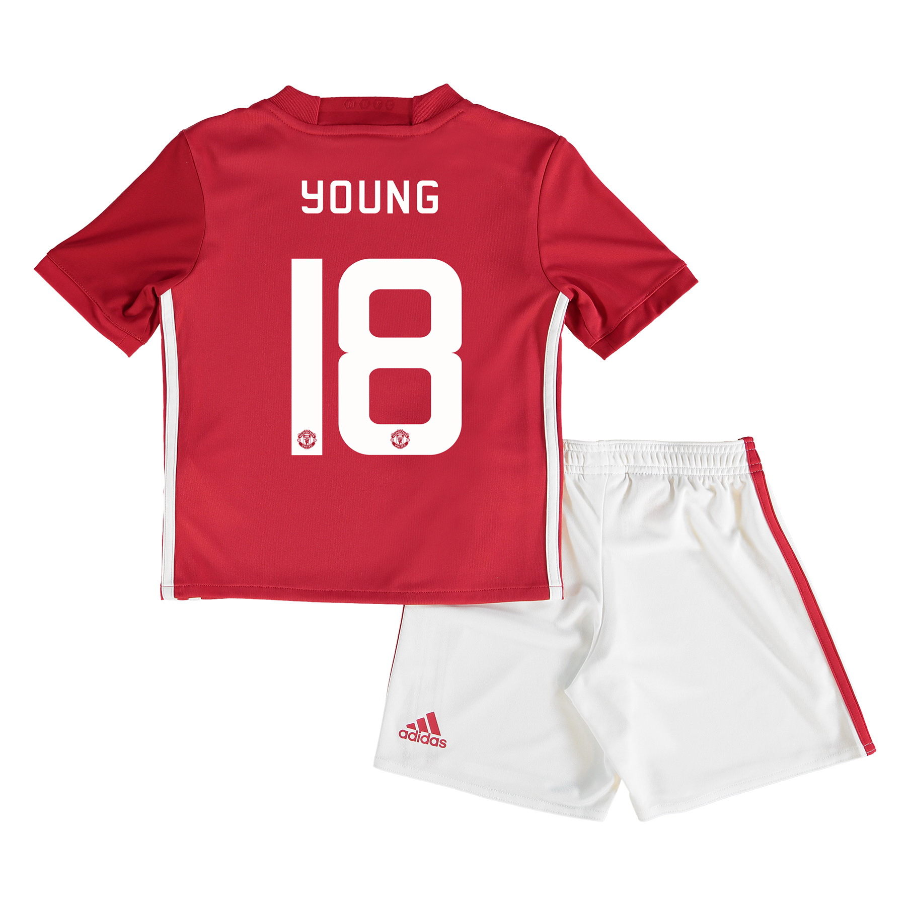 Manchester United Cup Home Mini Kit 2016-17 with Young 18 printing