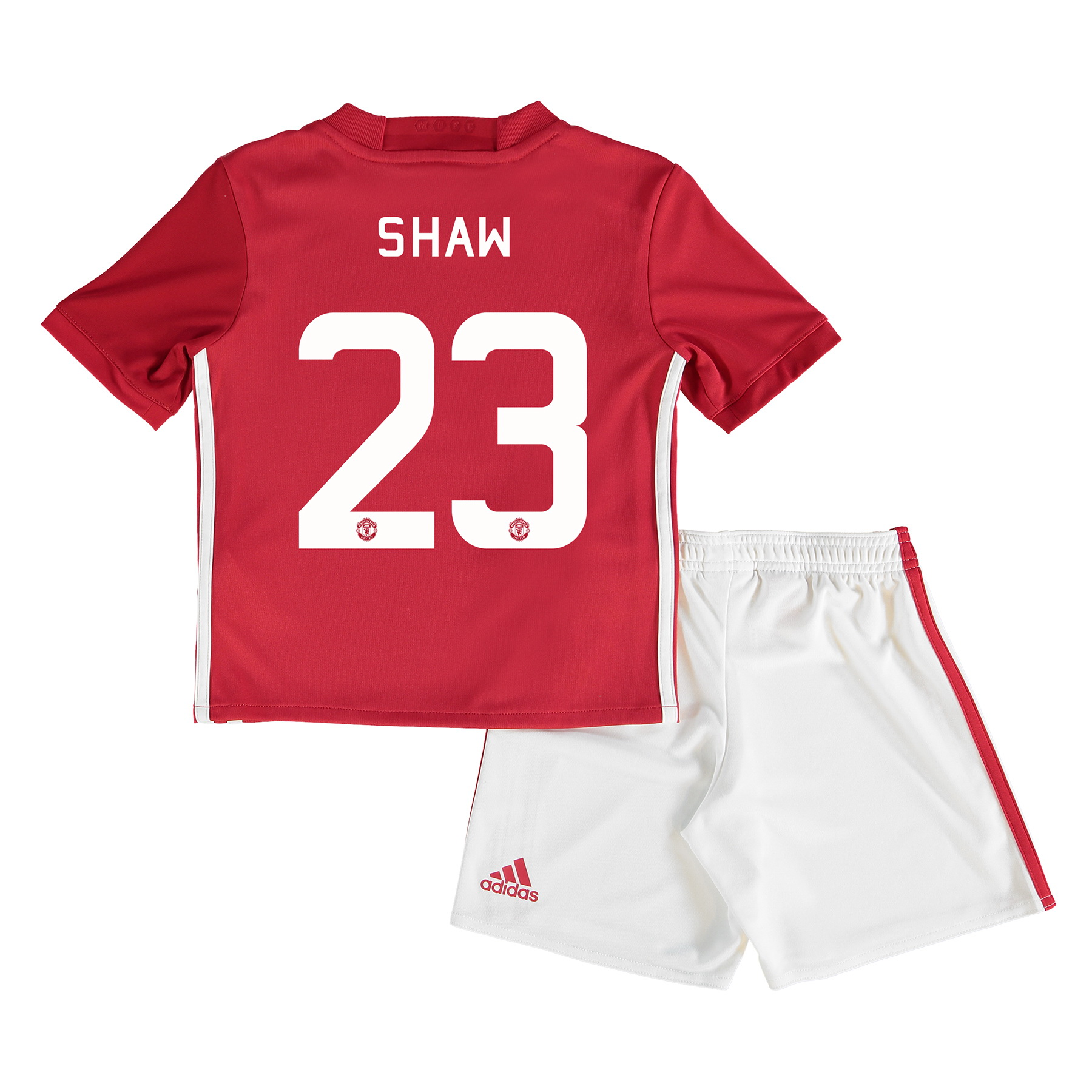 Manchester United Cup Home Mini Kit 2016-17 with Shaw 23 printing
