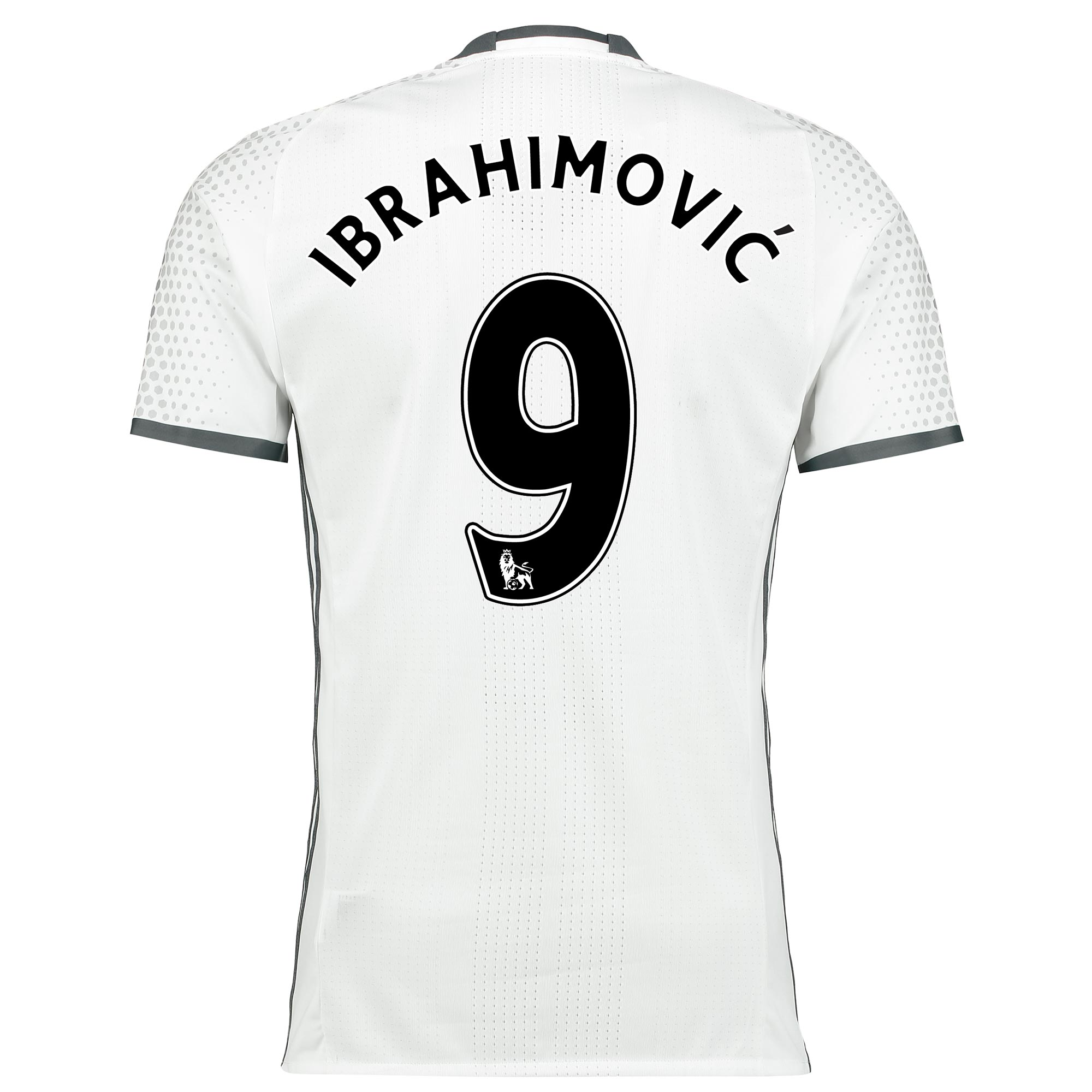Manchester United Third Adi Zero Shirt 2016-17 with Ibrahimovic 9 prin