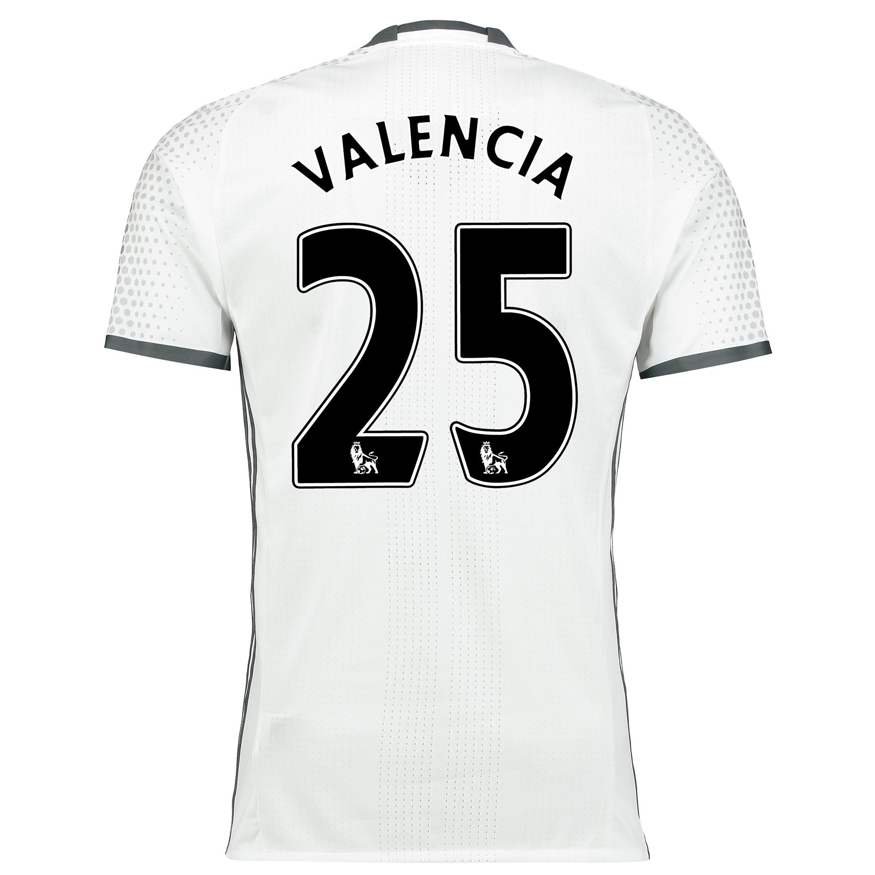 Manchester United Third Adi Zero Shirt 2016-17 with Valencia 25 printi