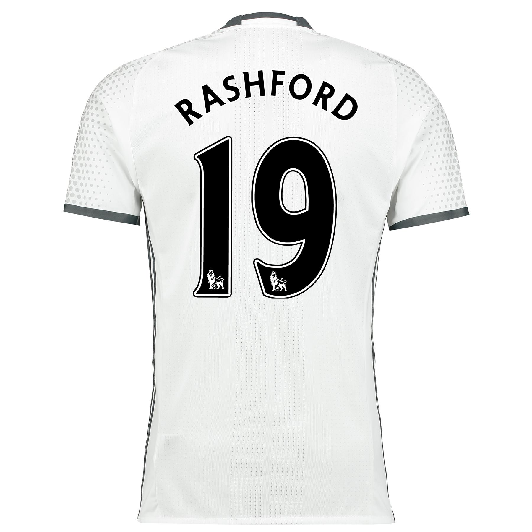 Manchester United Third Adi Zero Shirt 2016-17 with Rashford 19 printi