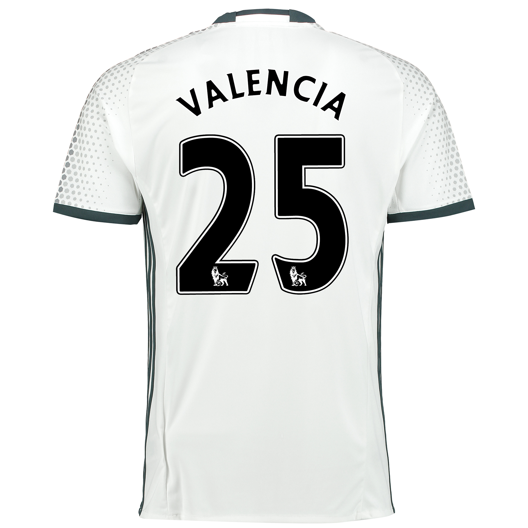 Manchester United Third Shirt 2016-17 with Valencia 25 printing