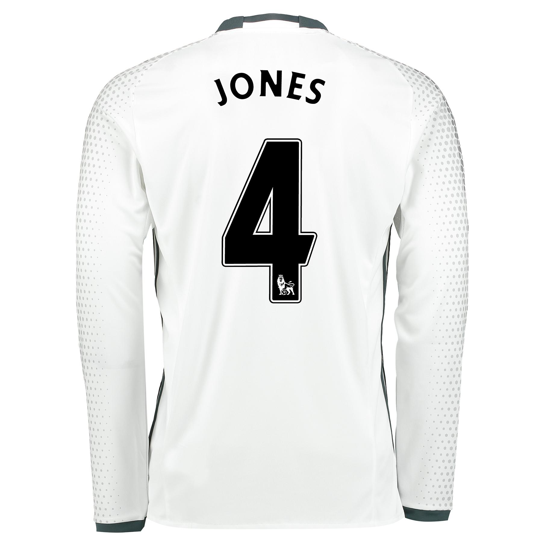 Manchester United Third Shirt 2016-17 - Long Sleeve with Jones 4 print