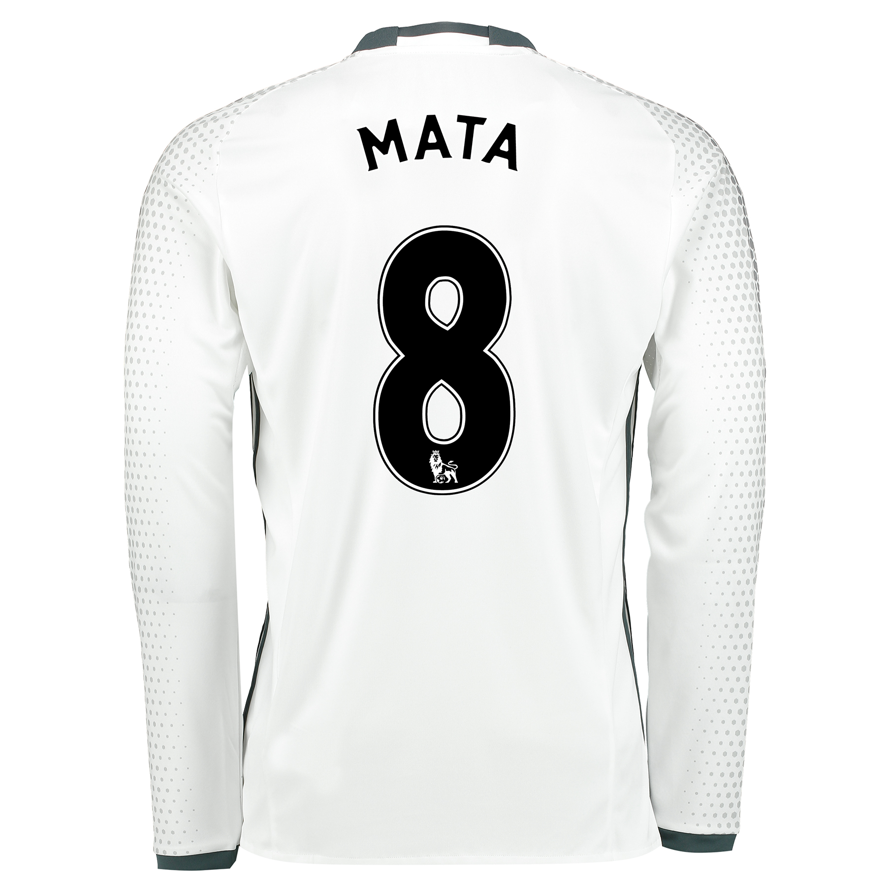 Manchester United Third Shirt 2016-17 - Long Sleeve with Mata 8 printi