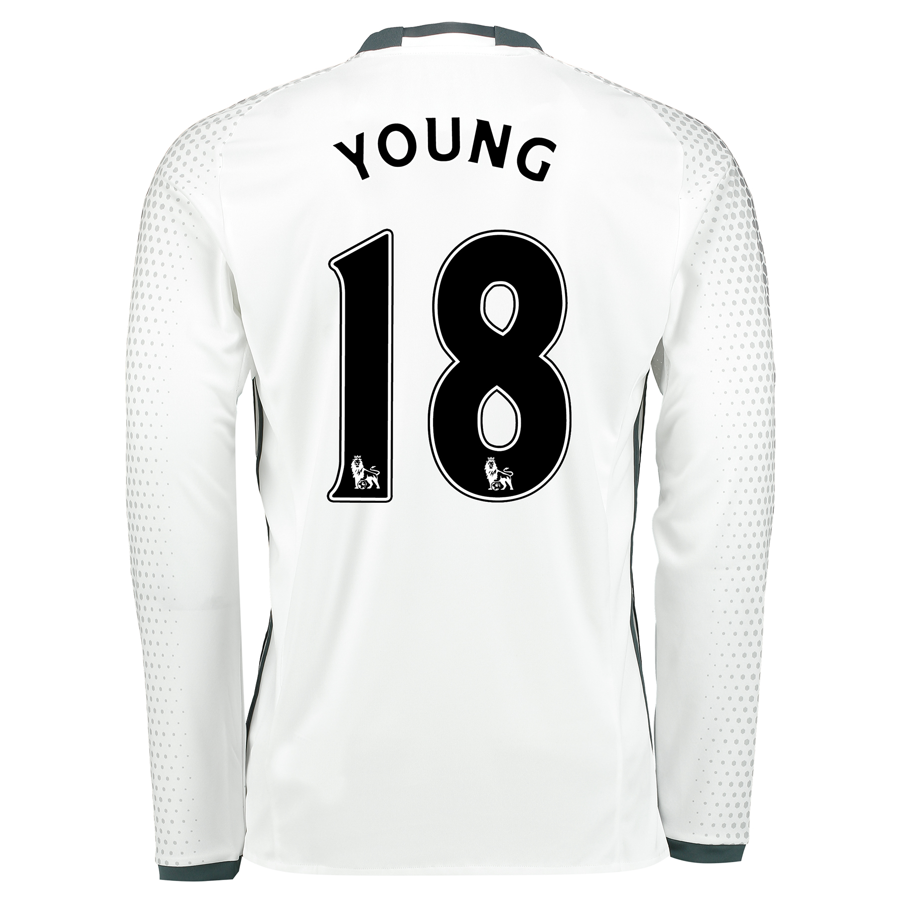 Manchester United Third Shirt 2016-17 - Long Sleeve with Young 18 prin