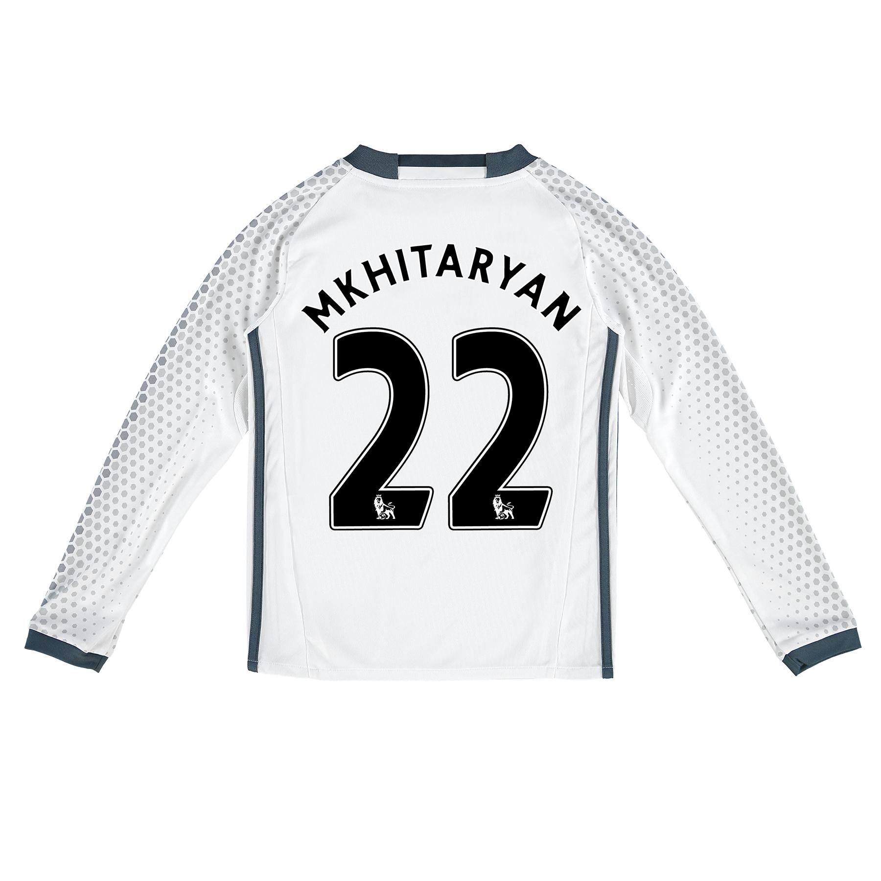 Manchester United Third Shirt 2016-17 - Kids - Long Sleeve with Mkhita