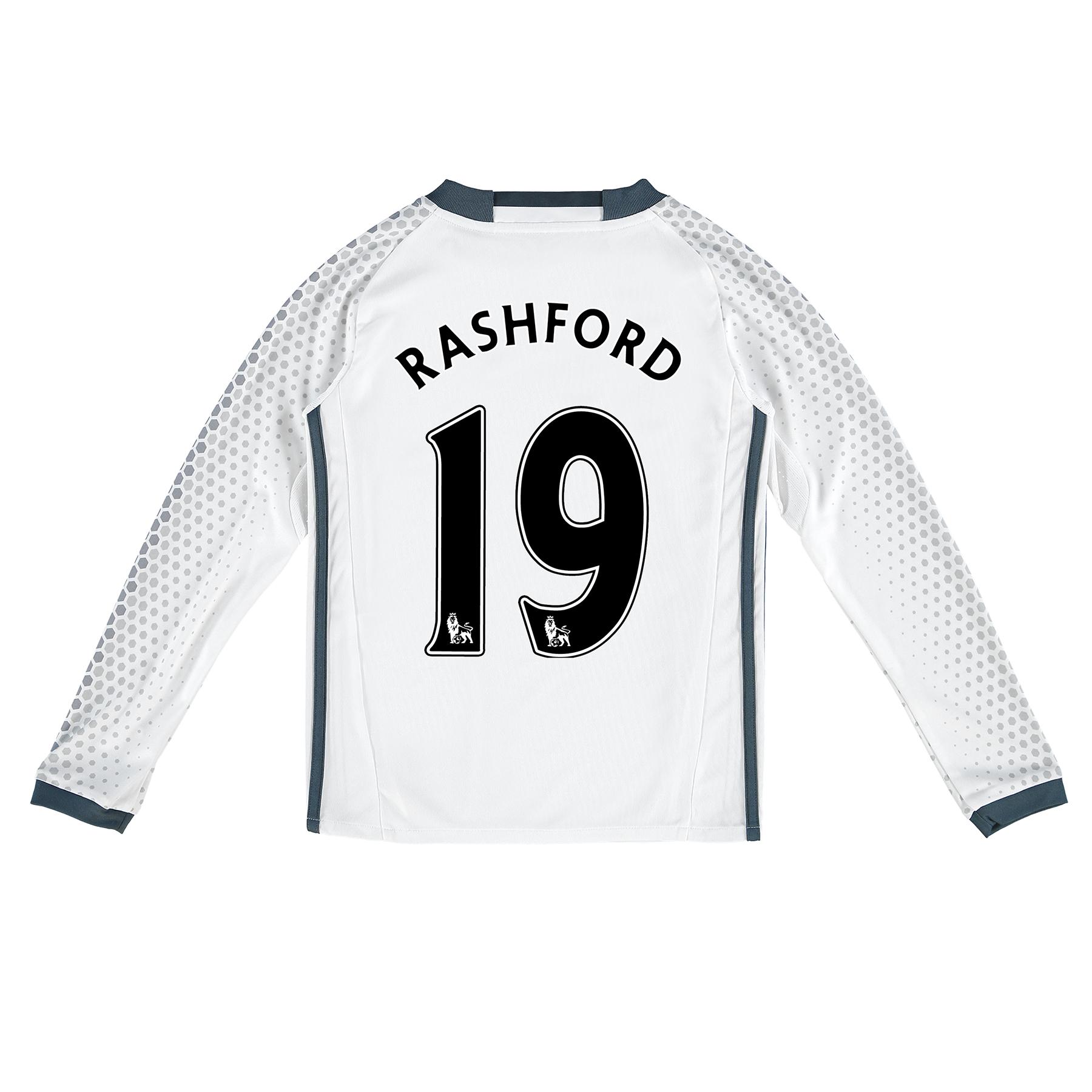 Manchester United Third Shirt 2016-17 - Kids - Long Sleeve with Rashfo