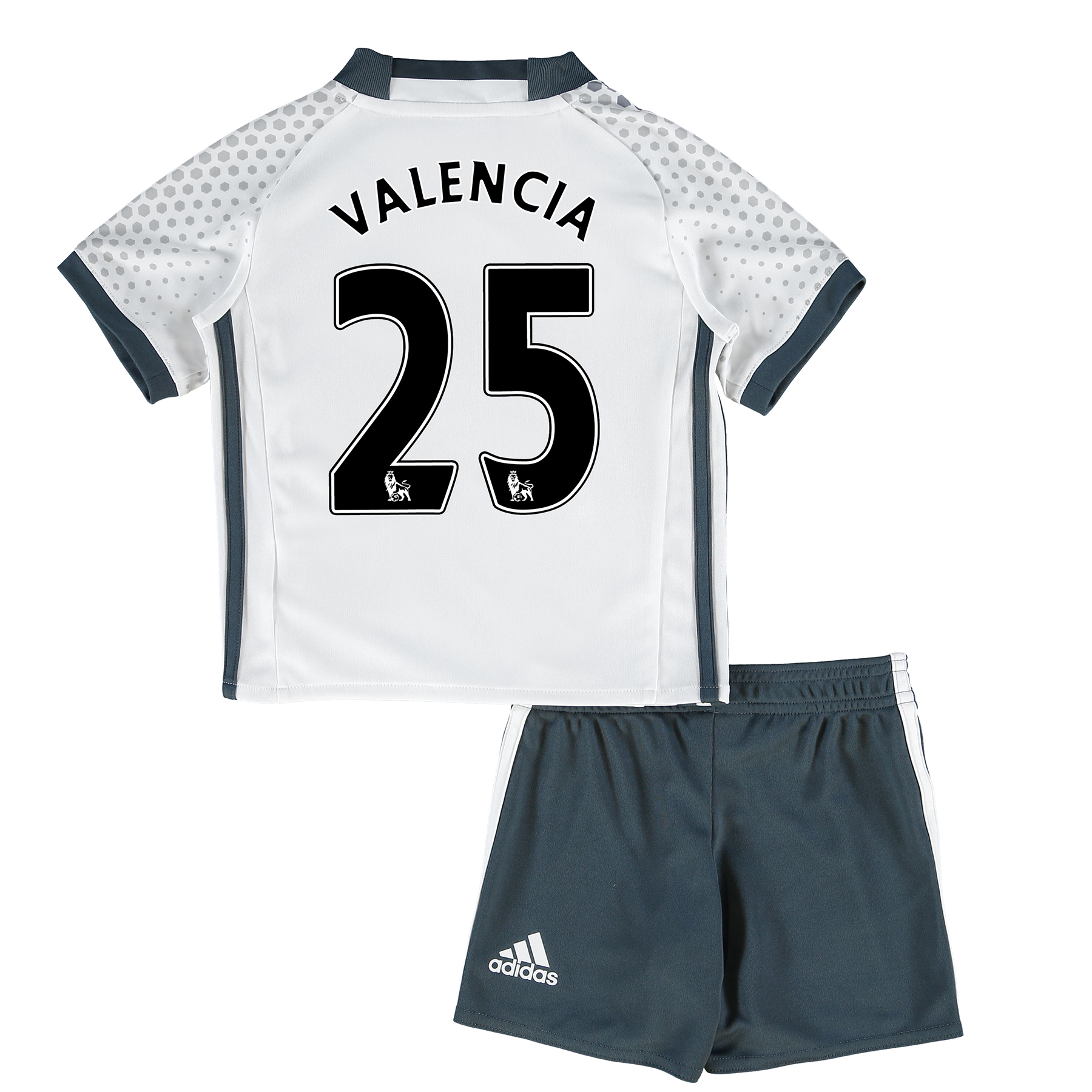 Manchester United Third Mini Kit 2016-17 with Valencia 25 printing