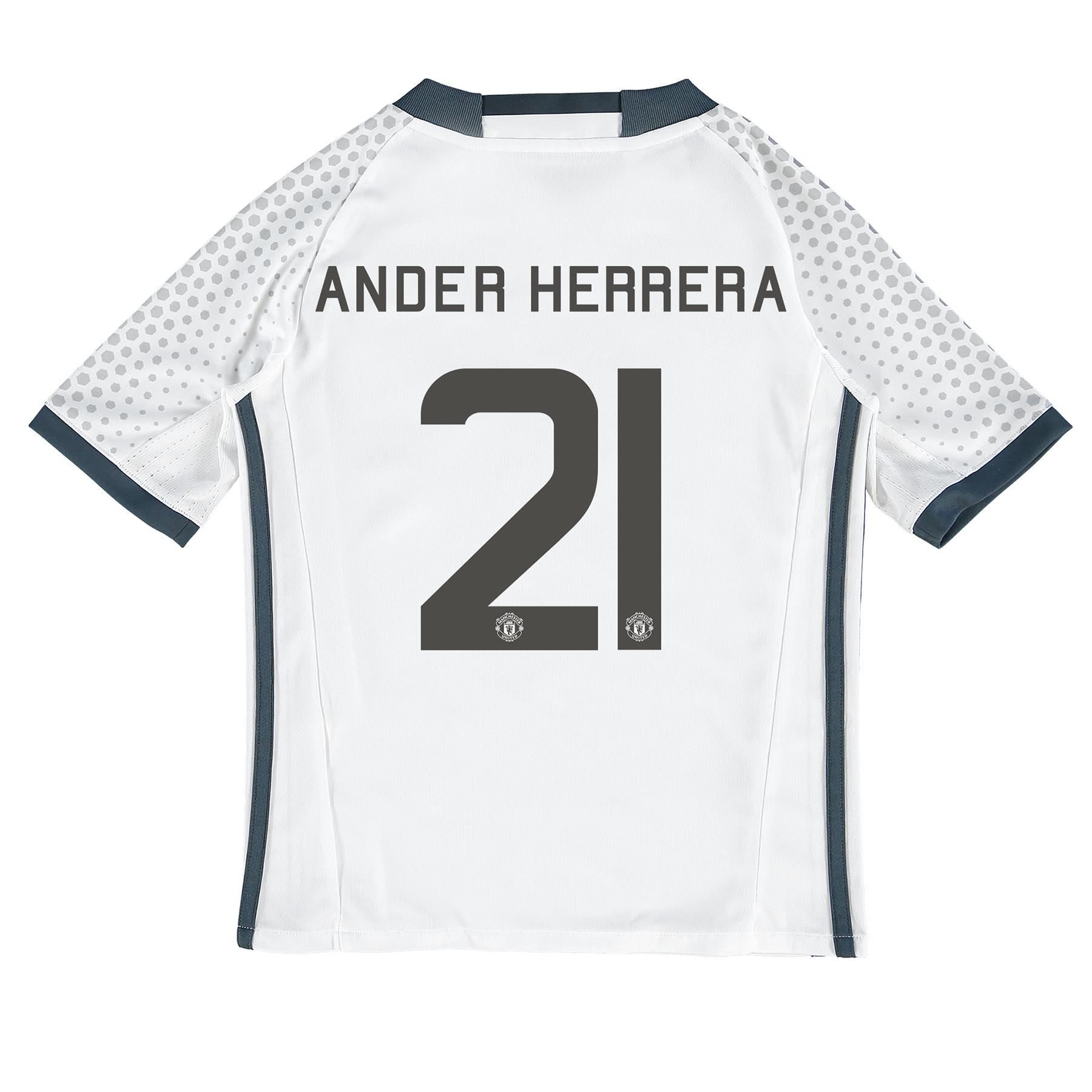 Manchester United Cup Third Shirt 2016-17 - Kids with Herrera 21 print