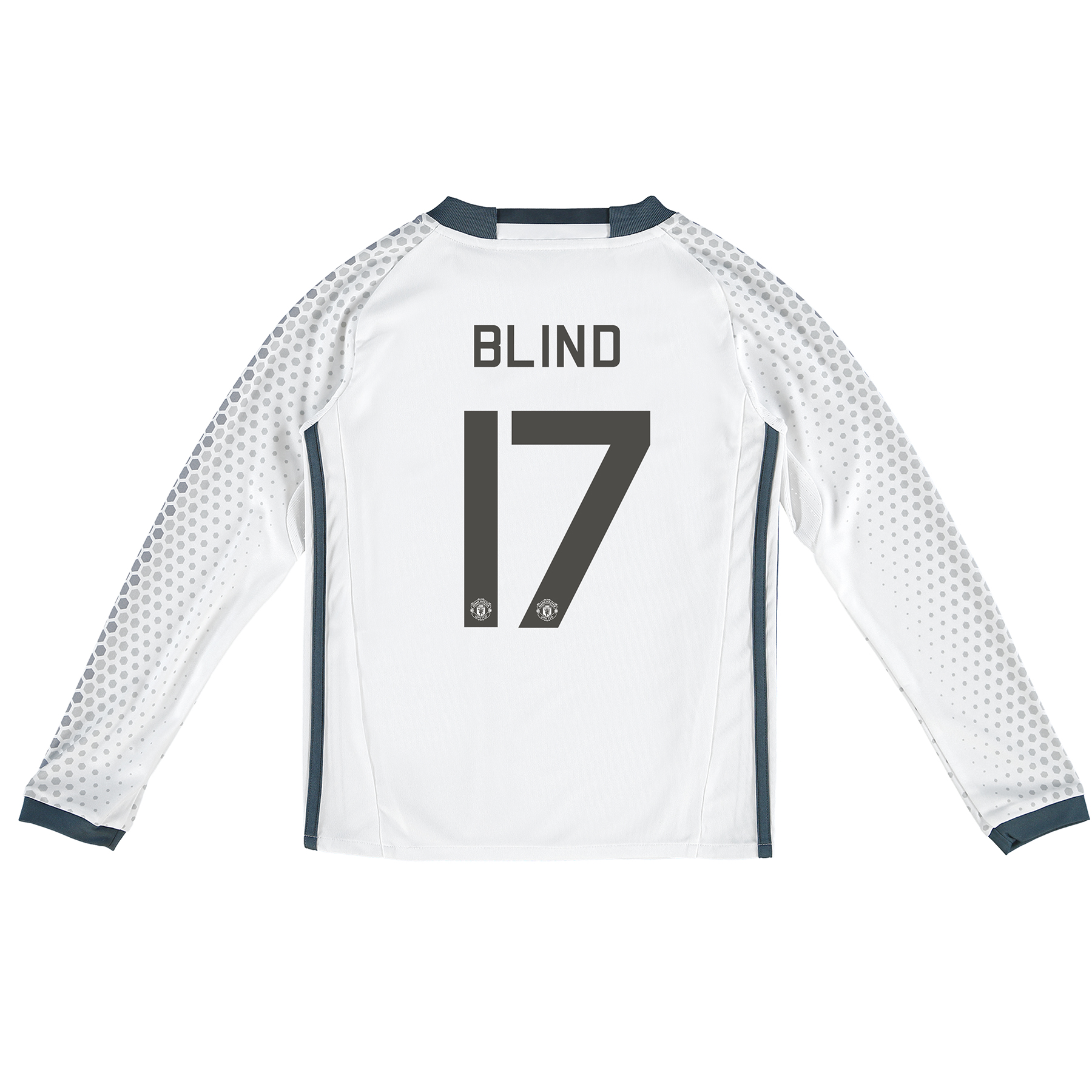 Manchester United Cup Third Shirt 2016-17 - Kids - Long Sleeve with Bl