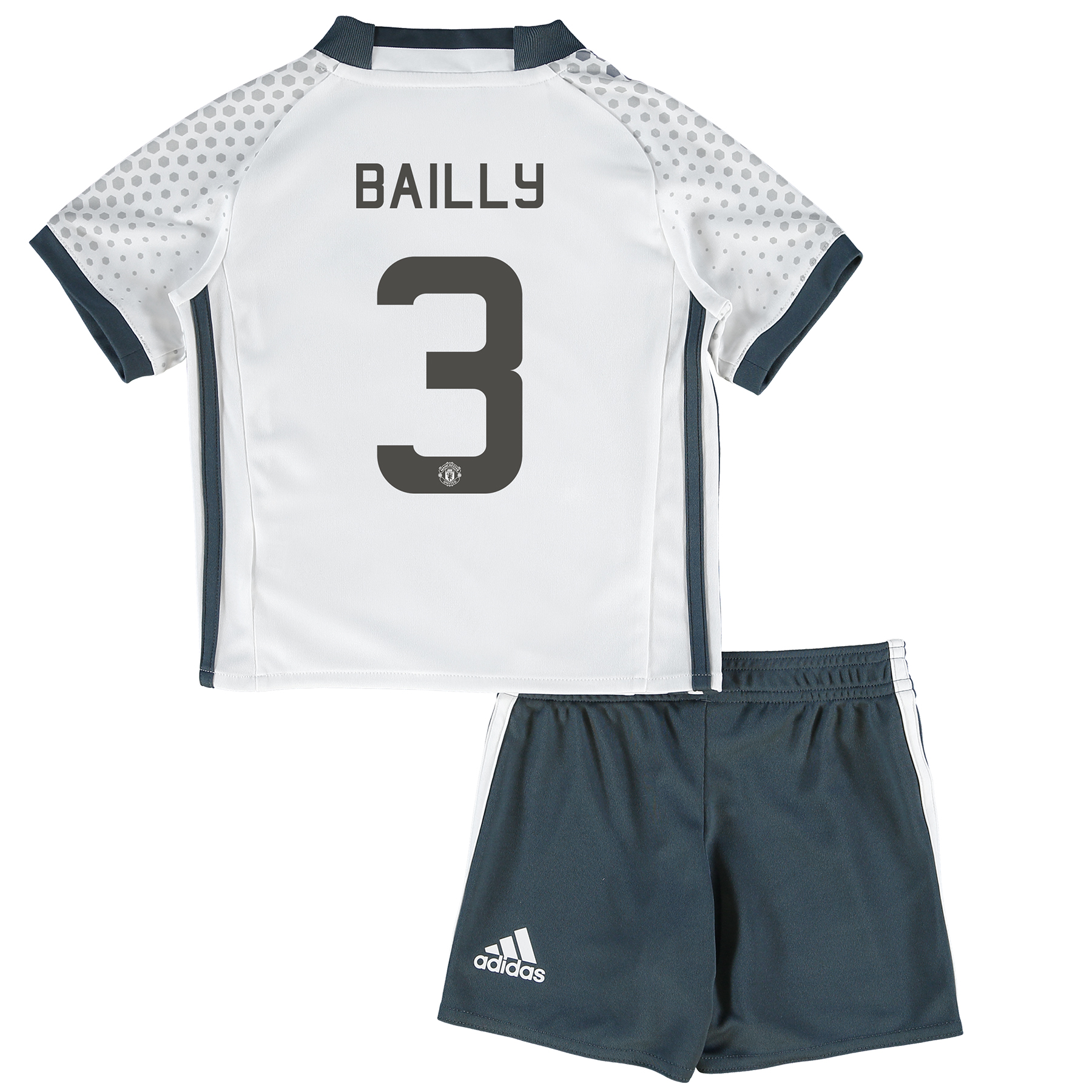 Manchester United Cup Third Mini Kit 2016-17 with Bailly 3 printing