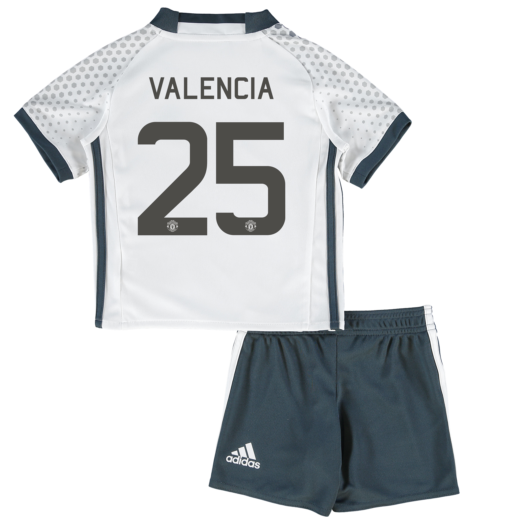 Manchester United Cup Third Mini Kit 2016-17 with Valencia 25 printing