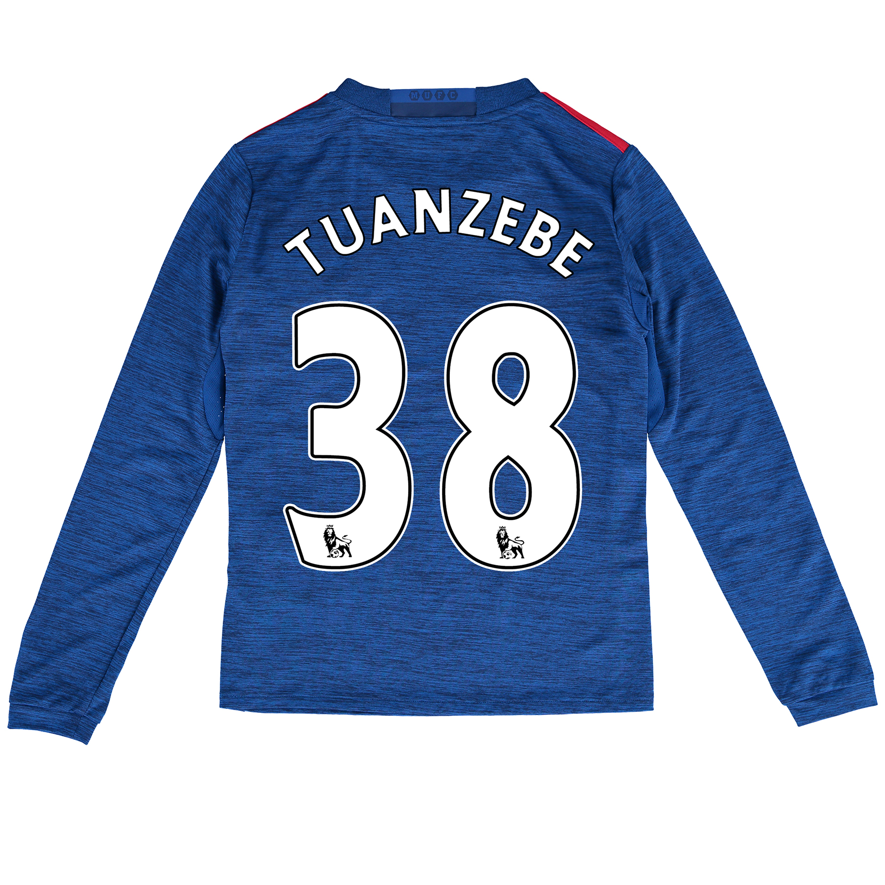 Manchester United Away Shirt 2016-17 - Kids - Long Sleeve with Tuanzeb, Blue
