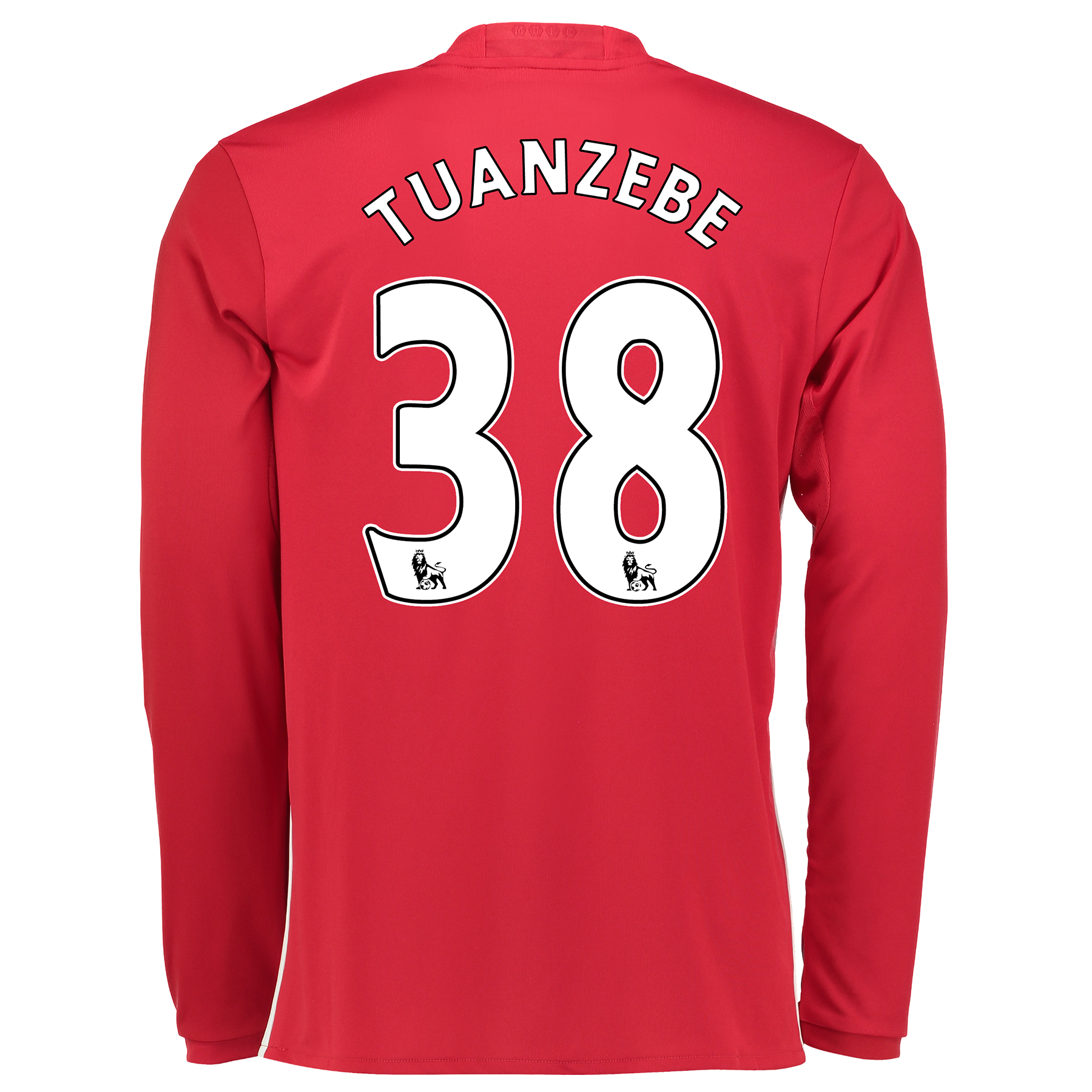 Manchester United Home Shirt 2016-17 - Long Sleeve with Tuanzebe 38 pr
