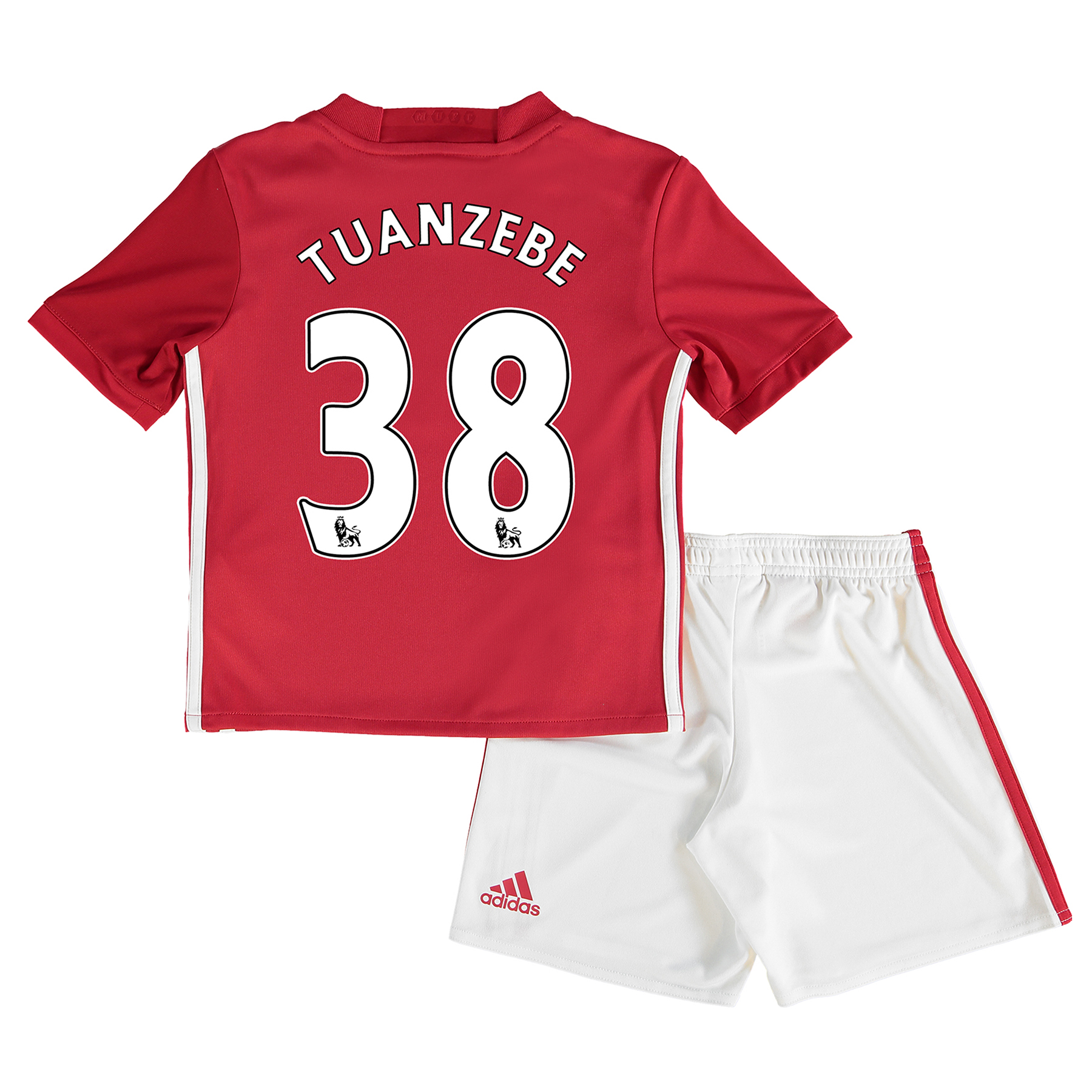 Manchester United Home Mini Kit 2016-17 with Tuanzebe 38 printing