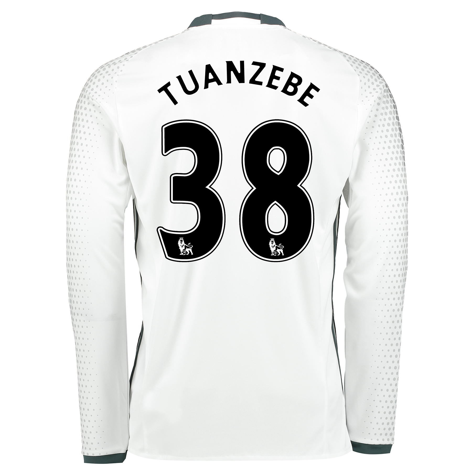 Manchester United Third Shirt 2016-17 - Long Sleeve with Tuanzebe 38 p