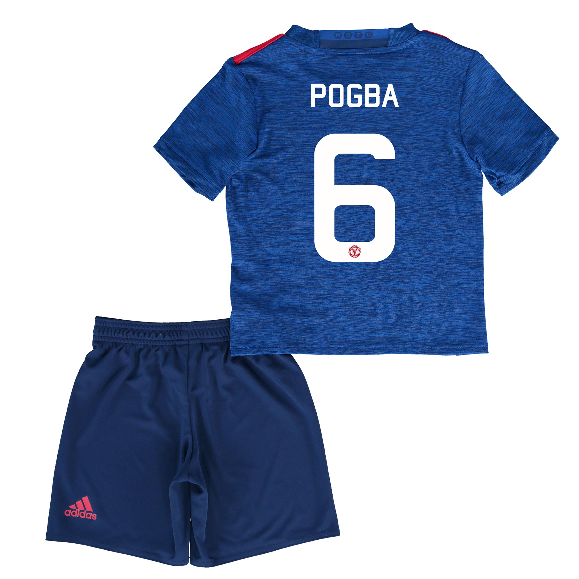 Manchester United Cup Away Mini Kit 2016-17 with Pogba 6 printing