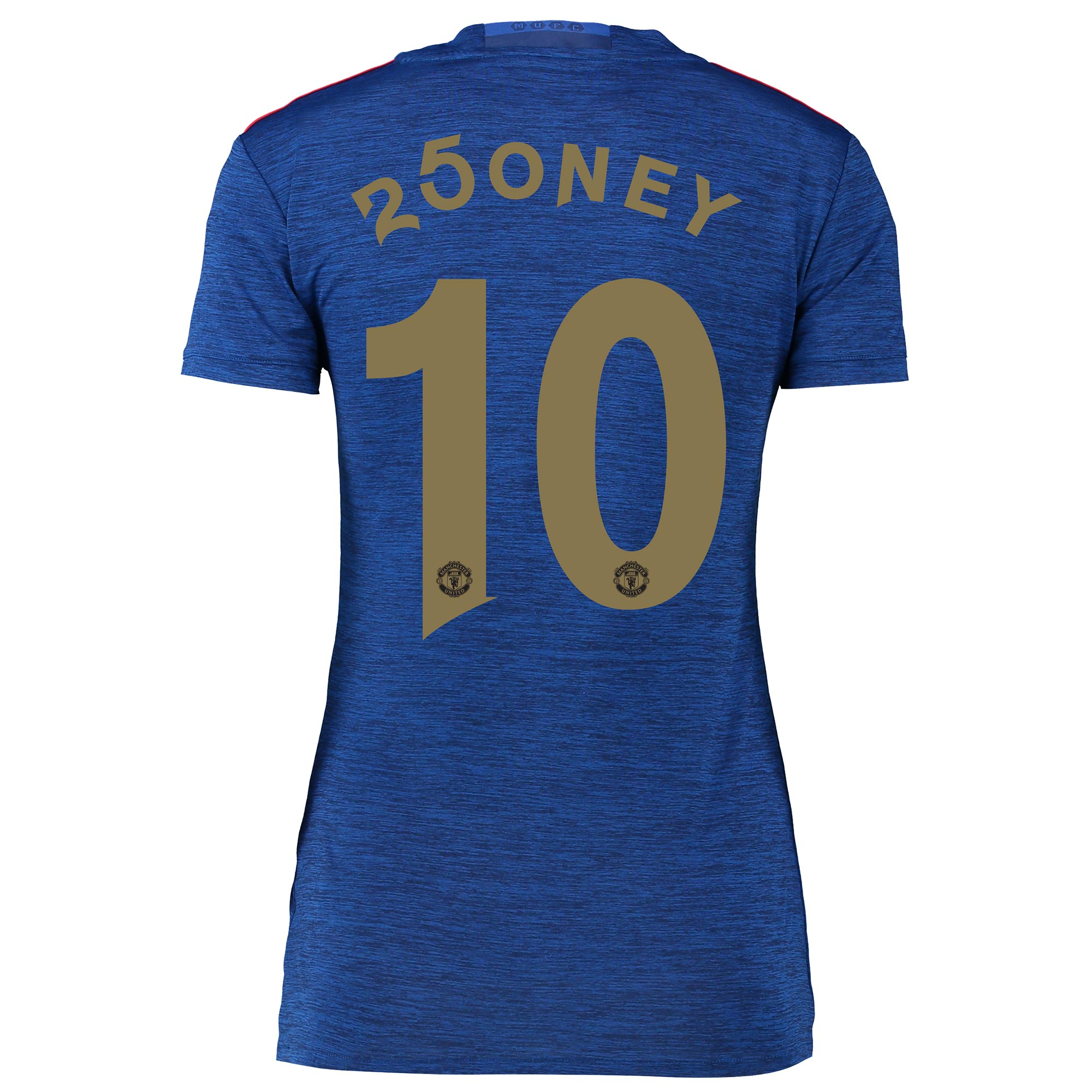 Manchester United Away Shirt 2016-17 - Womens with 250ney 10 printing