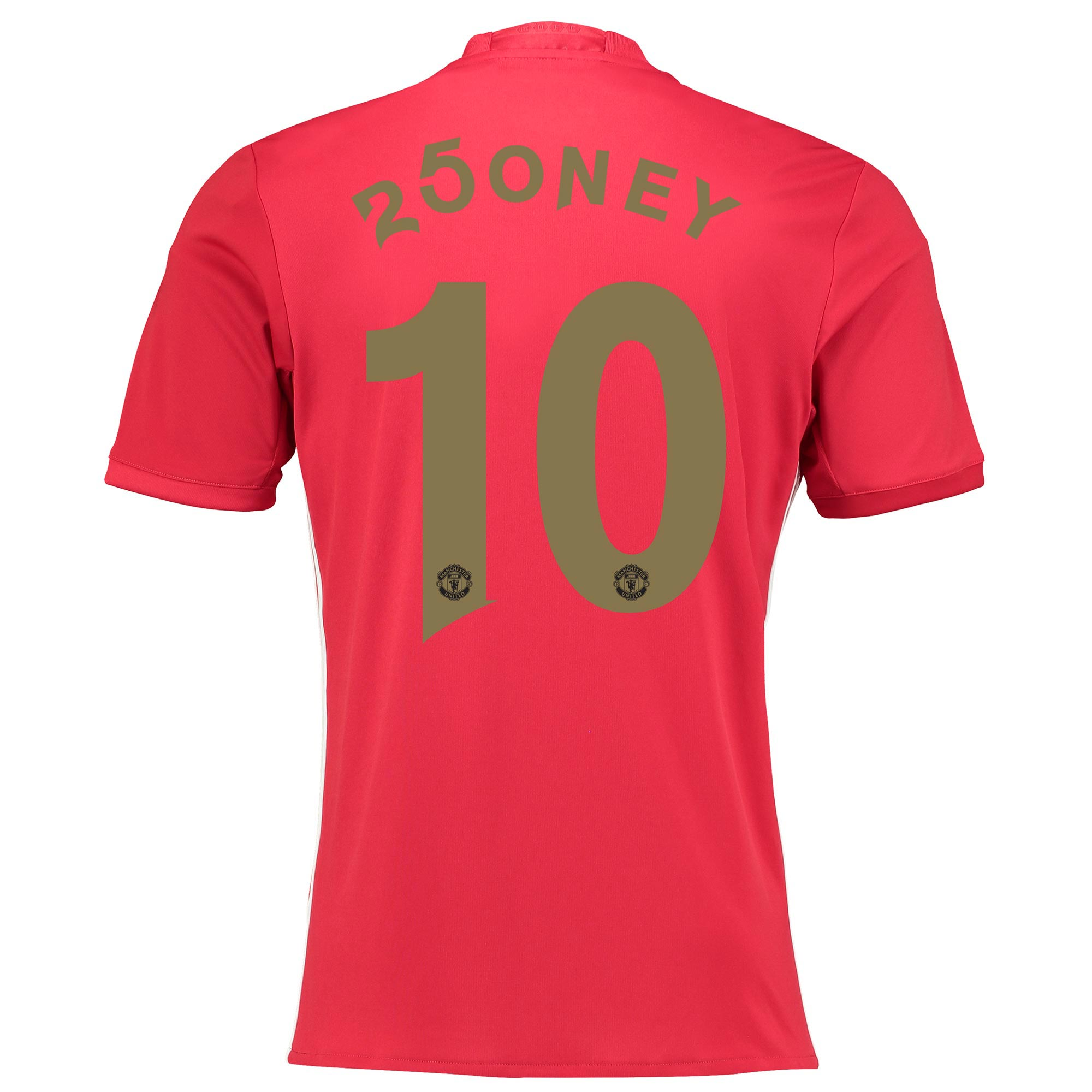 Manchester United Home Shirt 2016-17 with 250ney 10 printing