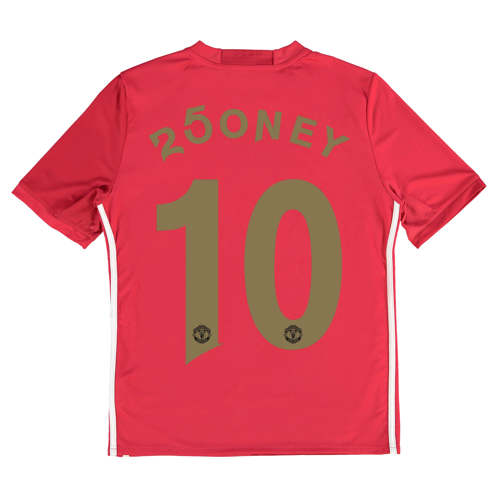 Manchester United Home Shirt 2016-17 - Kids with 250ney 10 printing