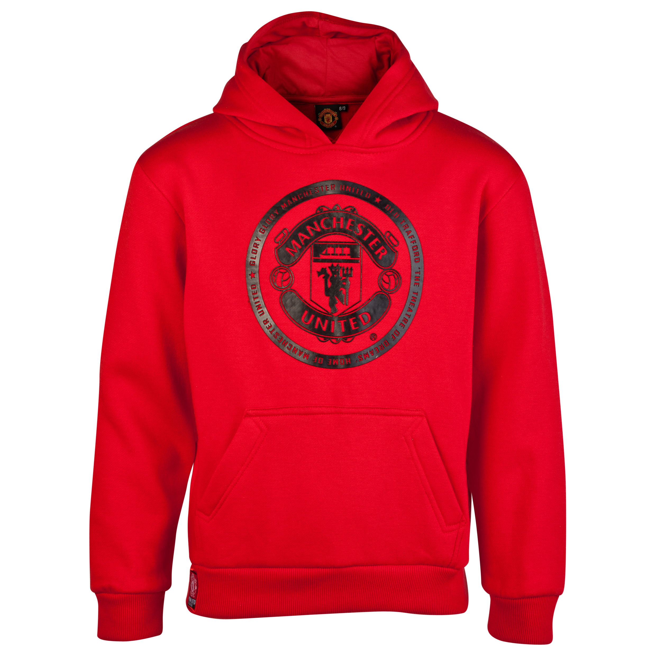 Manchester United Raised Crest Graphic Hoody - OT Red - Older Boys