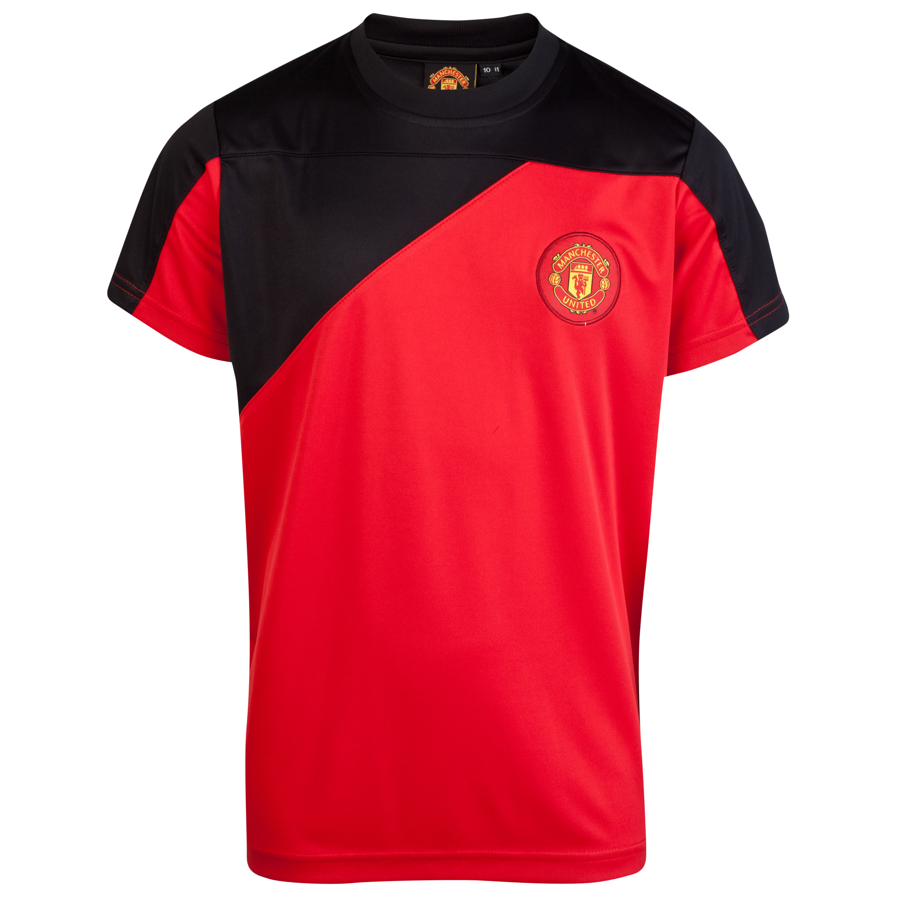 Manchester United Cut and Sew Poly Panel T-Shirt - OT Red - Older Boys