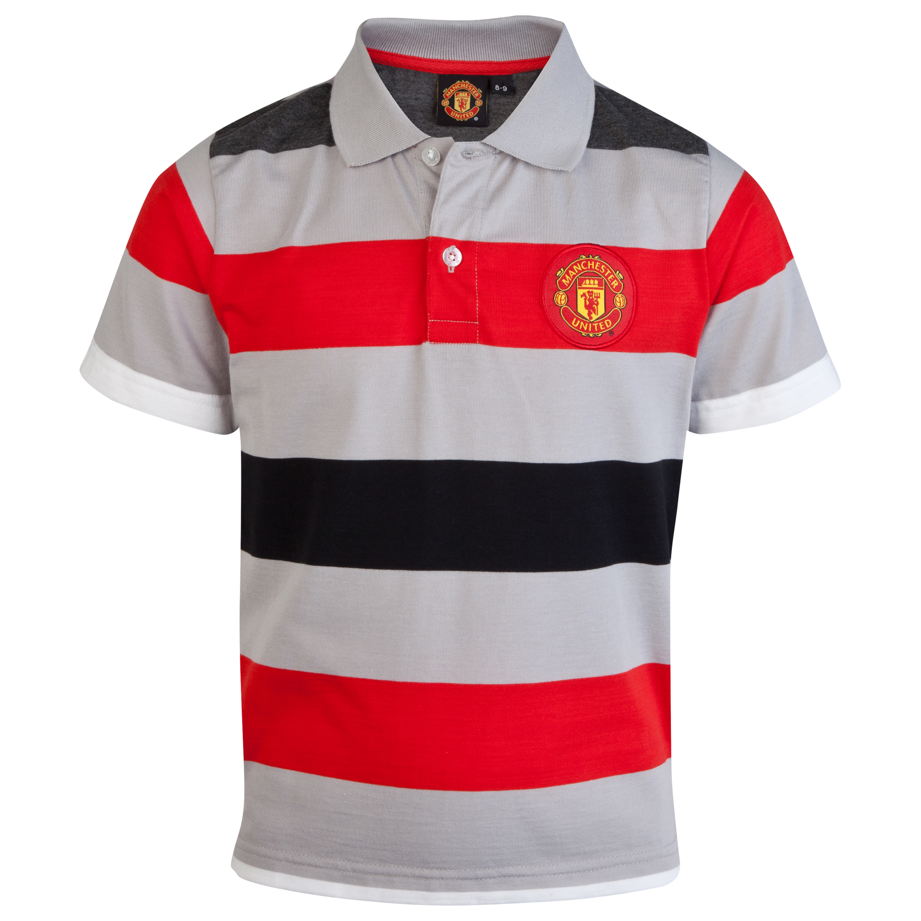 Manchester United Yarn Dye Striped Polo - Glacier - Older Boys