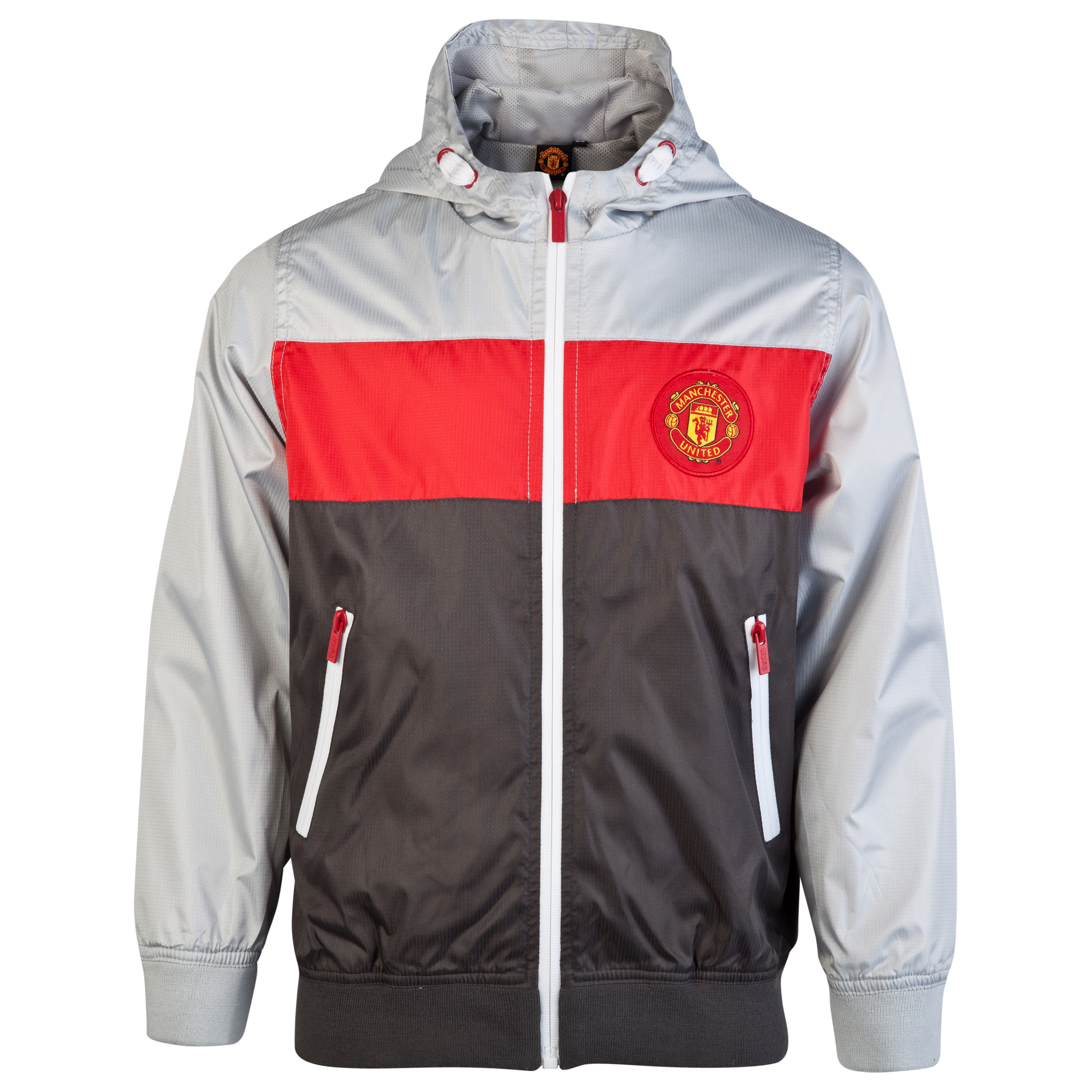 Manchester United Paneled Shower Jacket - Carbon - Older Boys