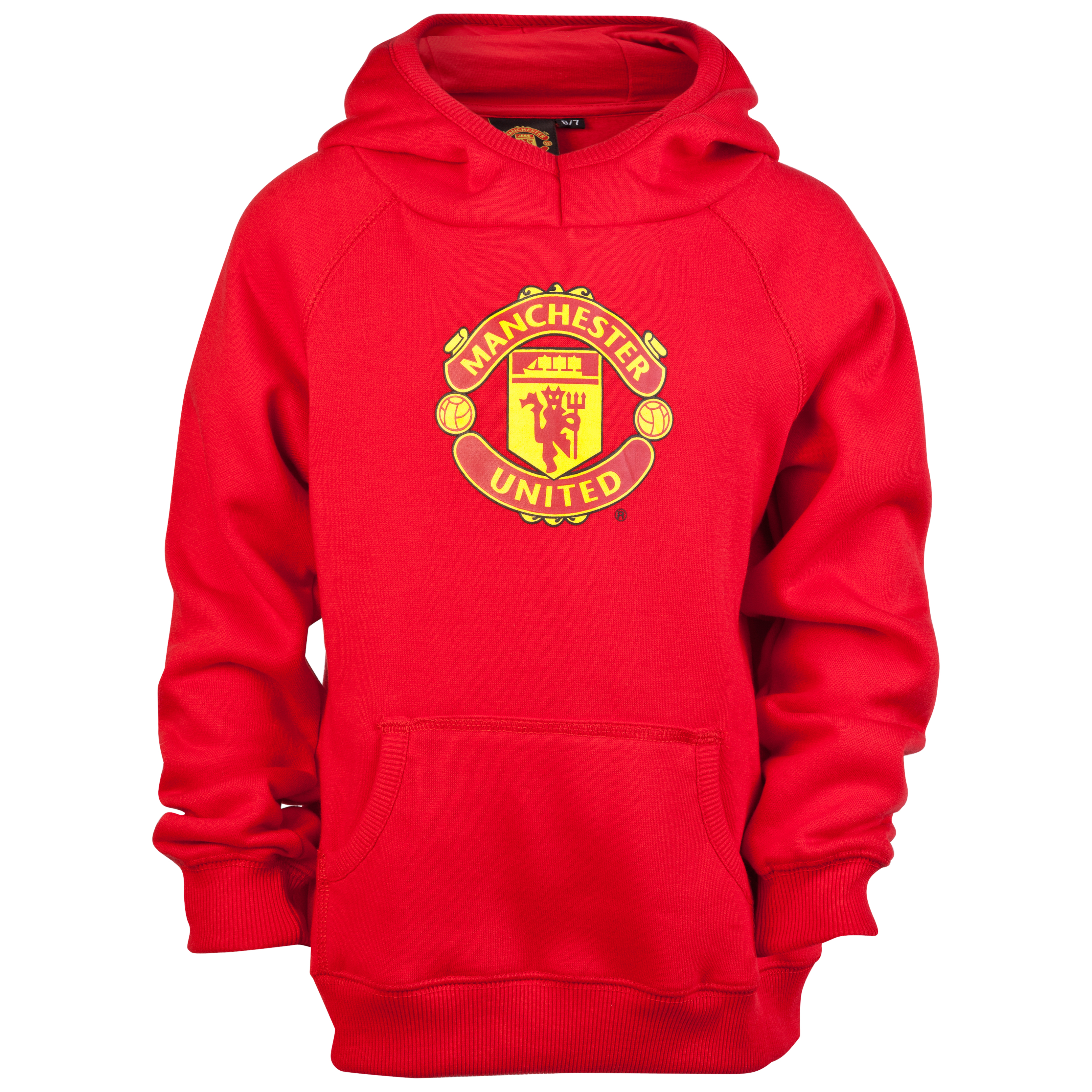 Manchester United Crest Fleece Hoody - OT Red - Infant Boys