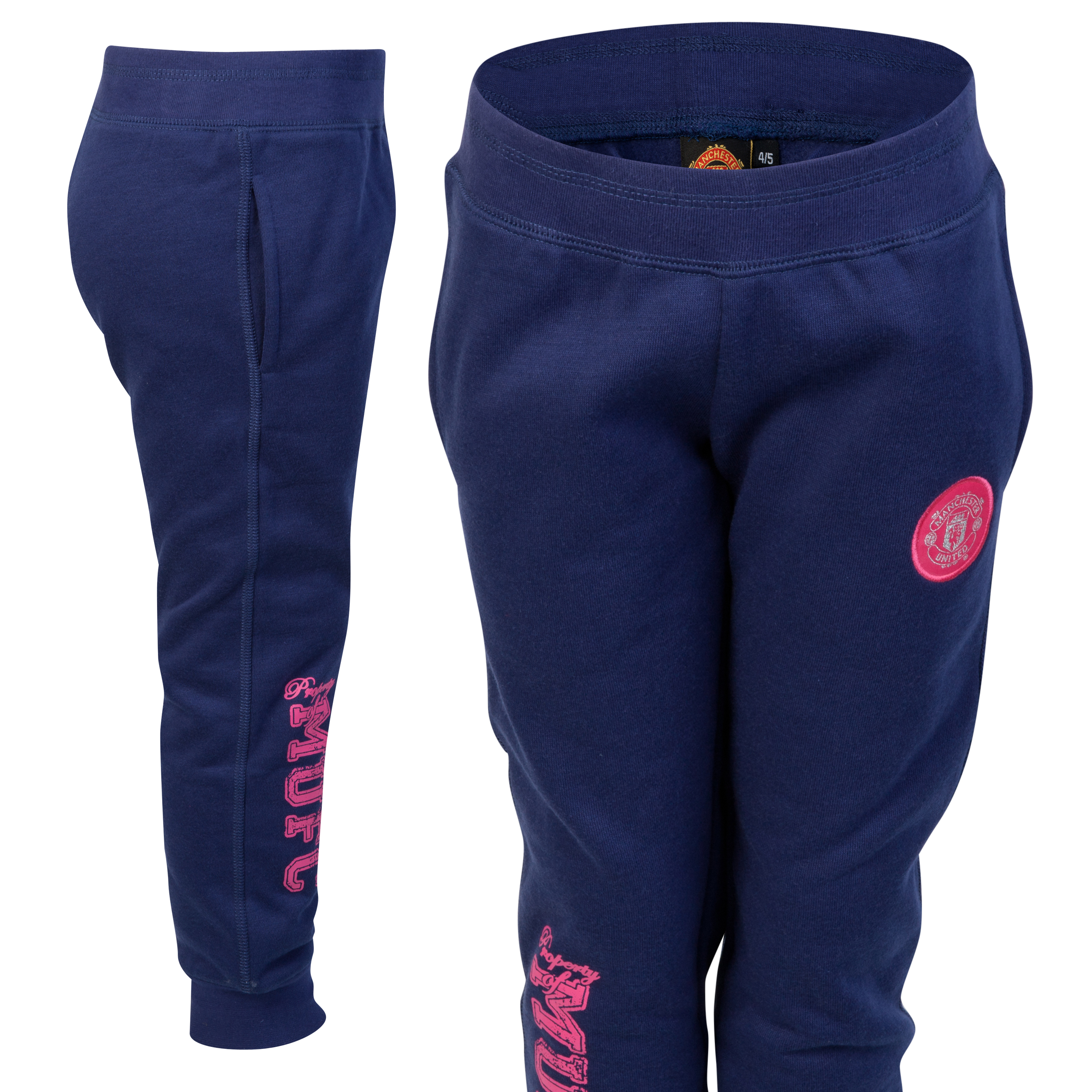 Manchester United MUFC Skinny Leg Sweat Pant - Blueberry - Girls
