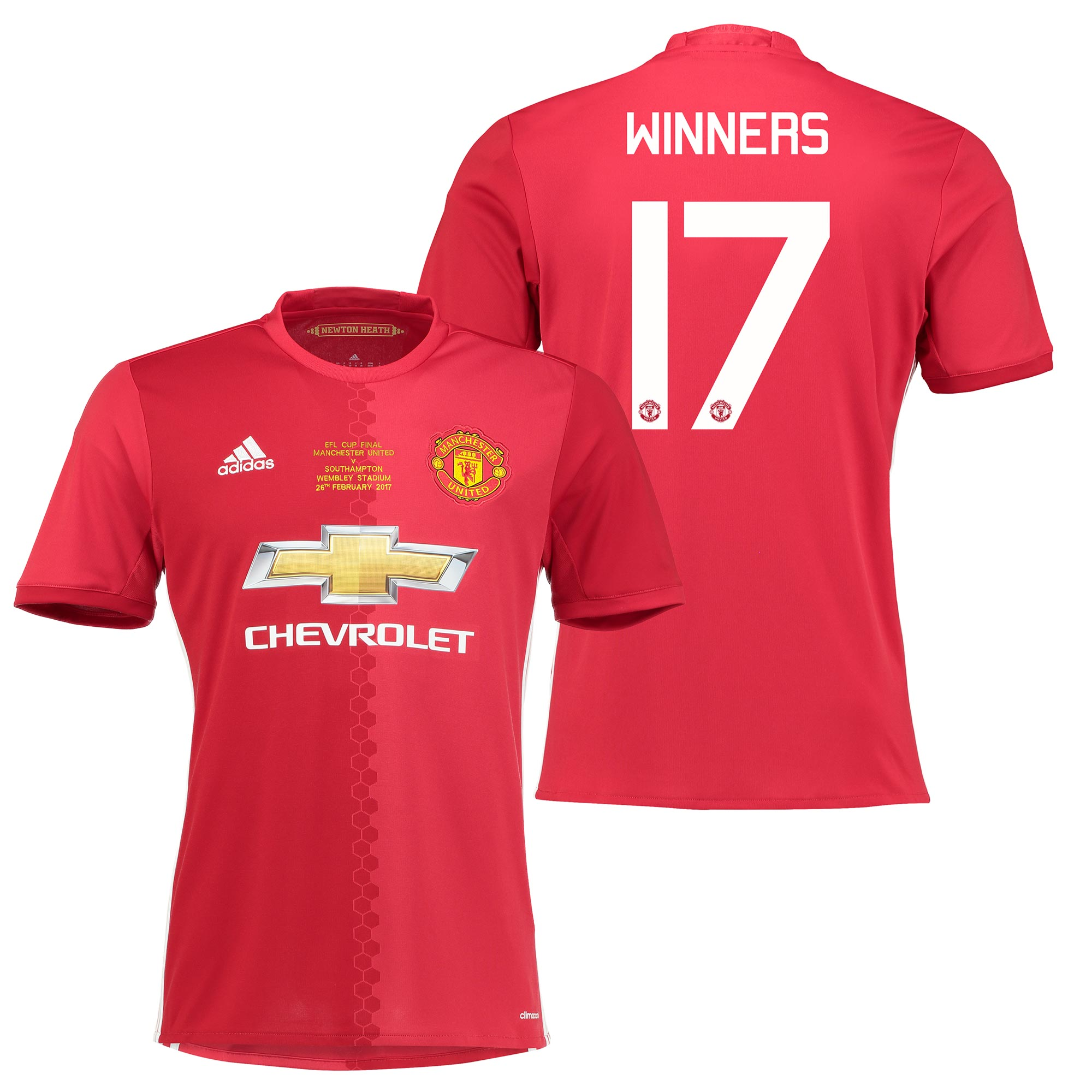 Manchester United EFL Cup Final Home Shirt 2016-17 with Winners 17 pri