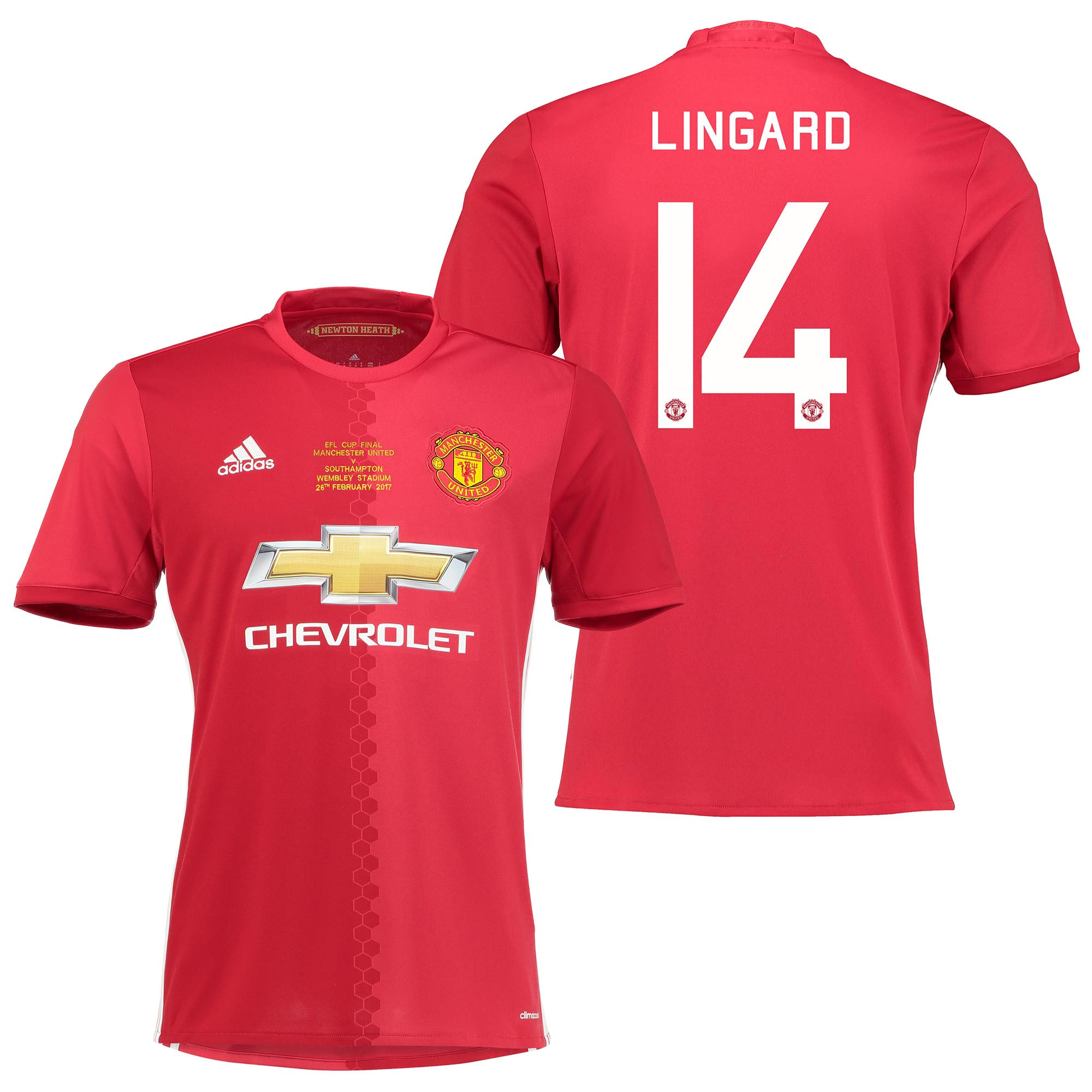 Manchester United EFL Cup Final Home Shirt 2016-17 with Lingard 14 pri