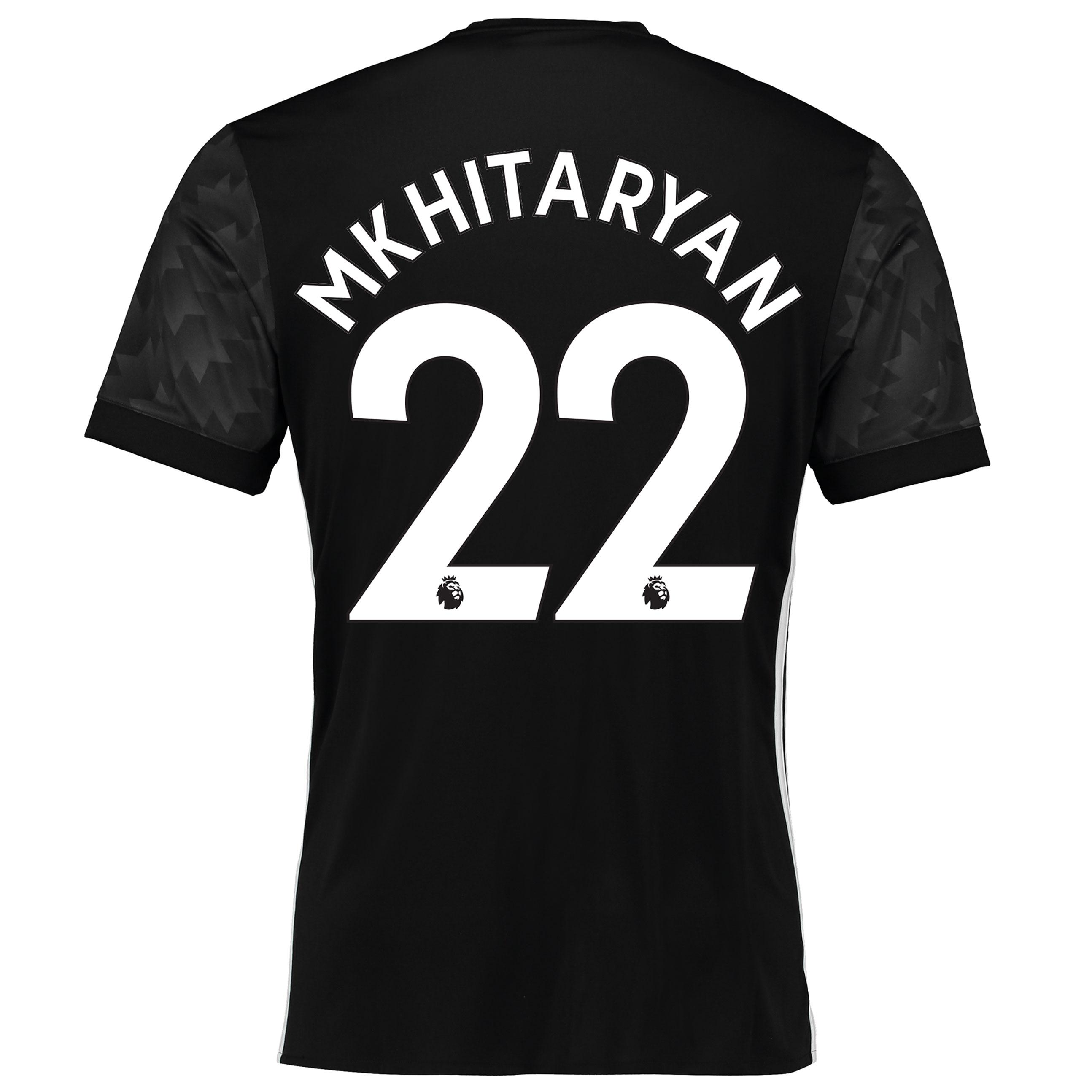 Manchester United Away Shirt 2017-18 with Mkhitaryan 22 printing