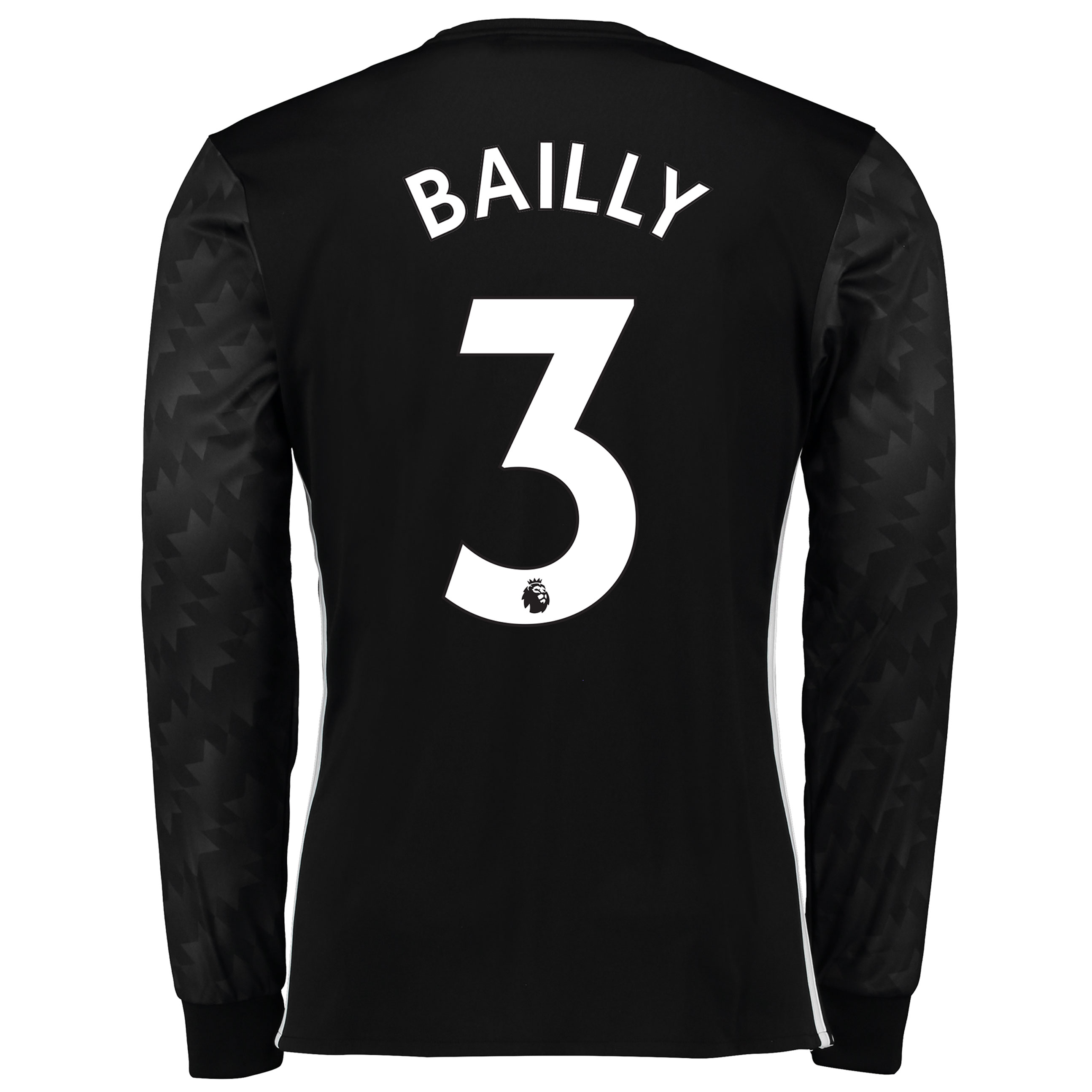 Manchester United Away Shirt 2017-18 - Long Sleeve with Bailly 3 print