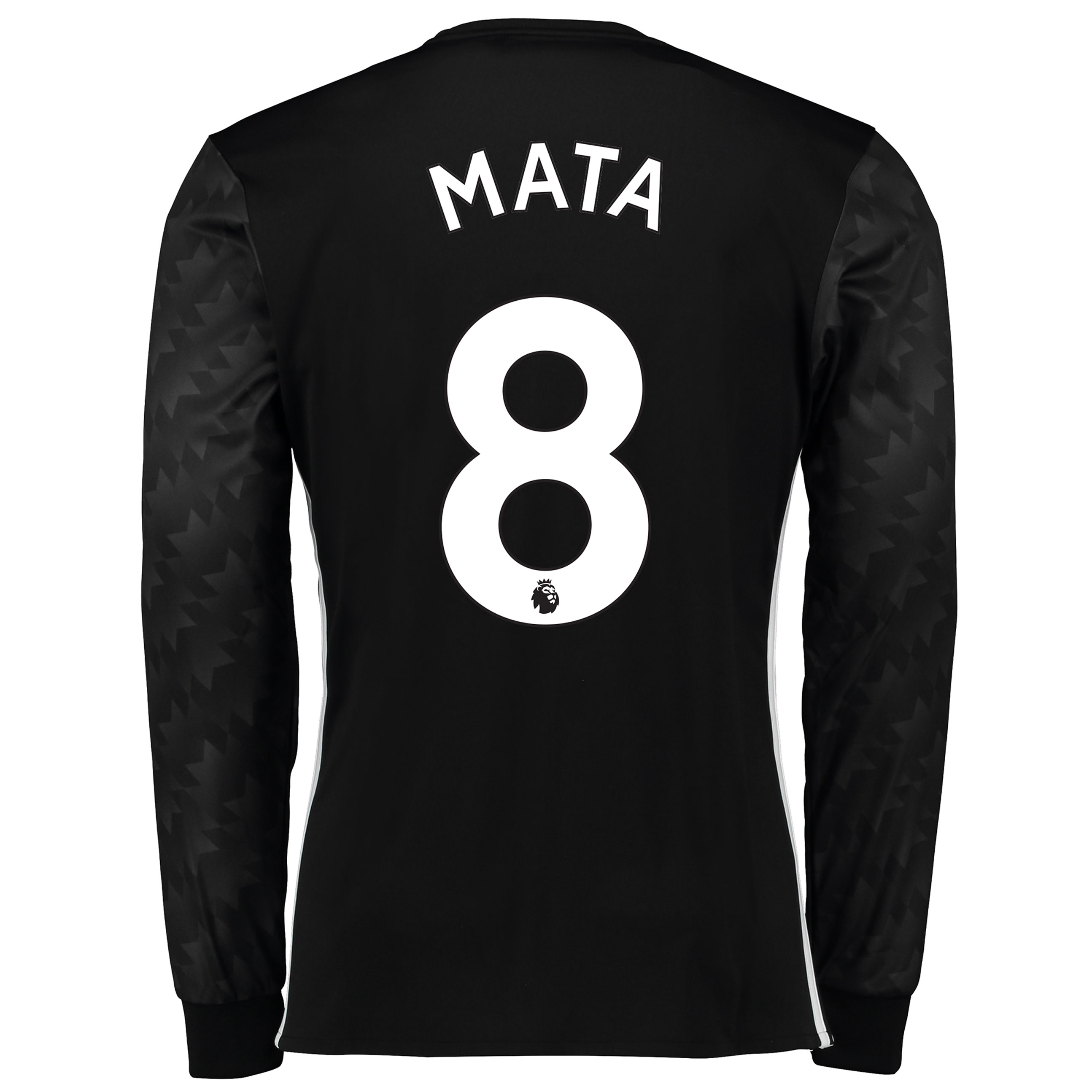 Manchester United Away Shirt 2017-18 - Long Sleeve with Mata 8 printin