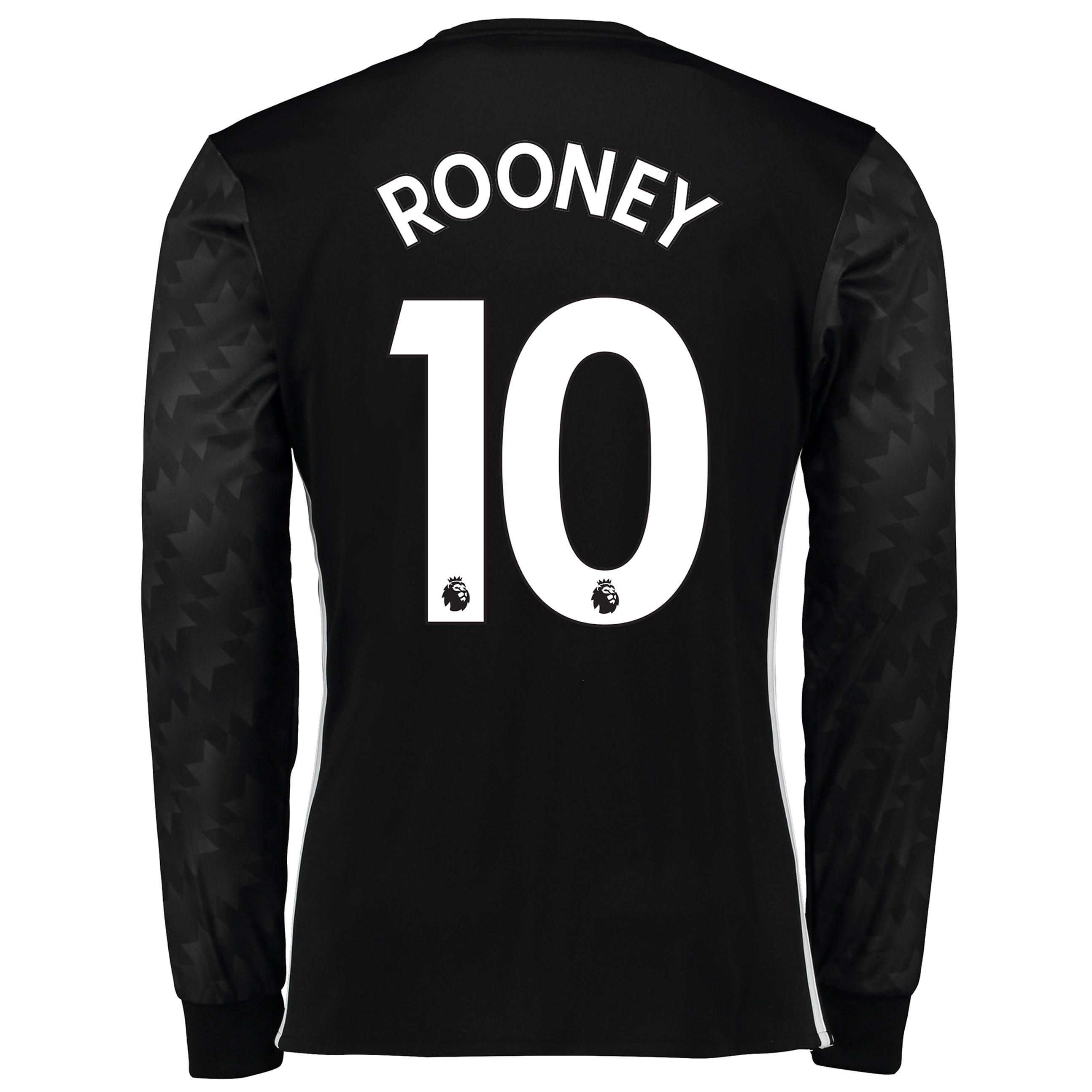 Manchester United Away Shirt 2017-18 - Long Sleeve with Rooney 10 prin