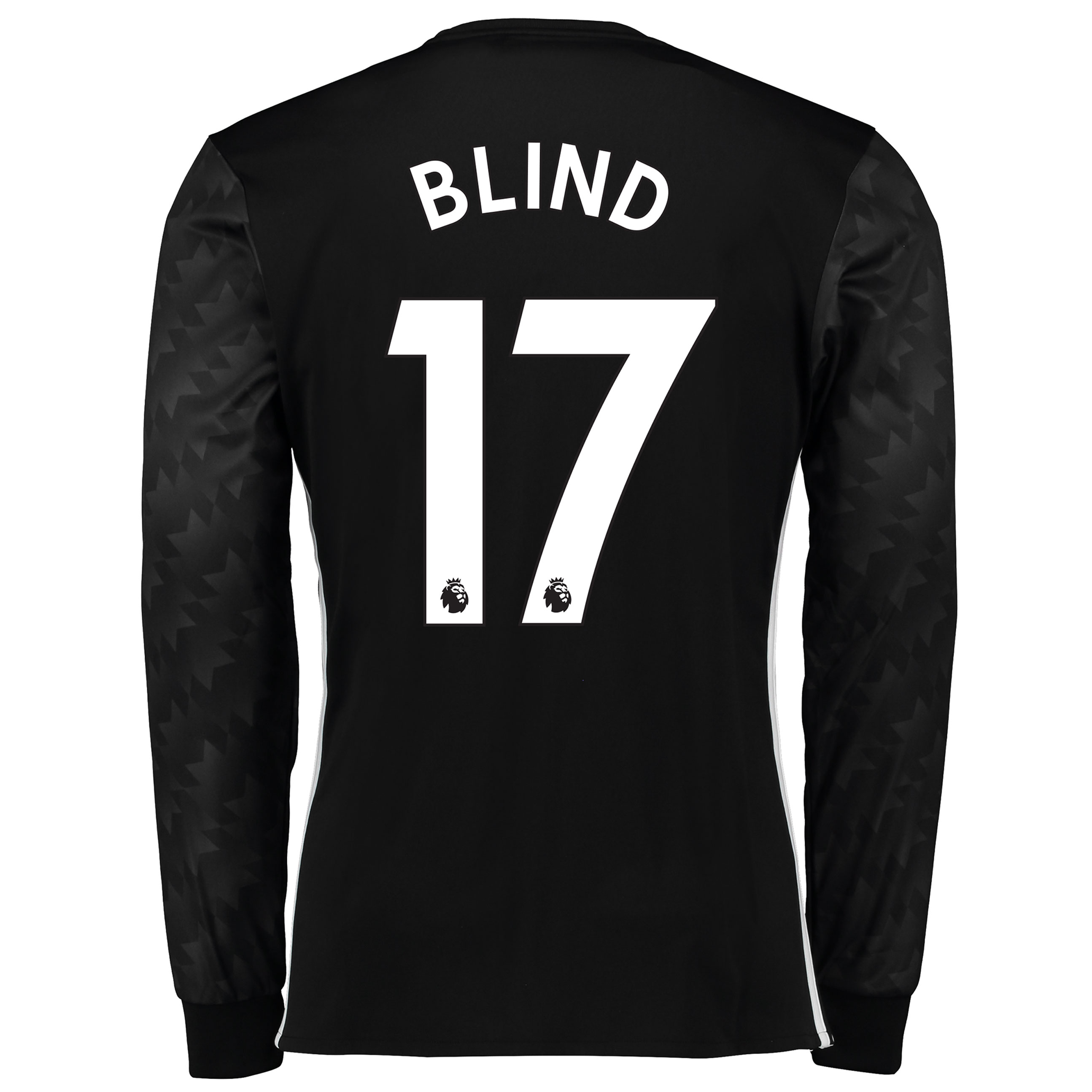 Manchester United Away Shirt 2017-18 - Long Sleeve with Blind 17 print