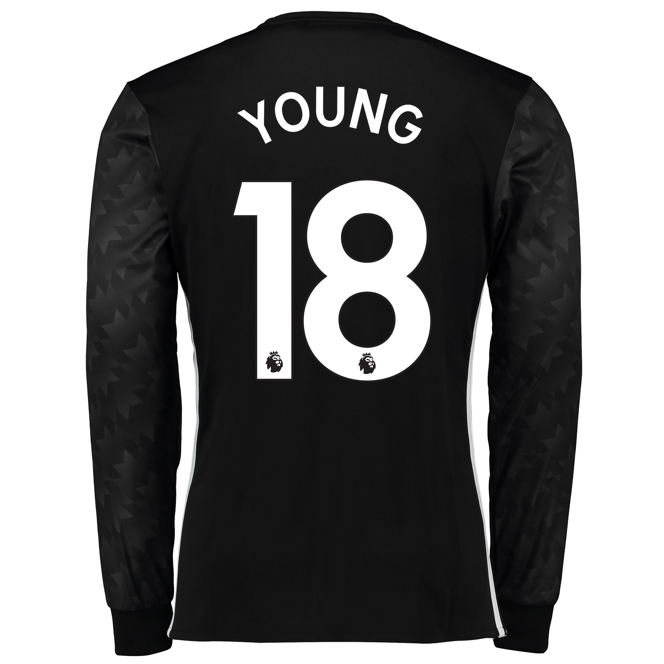 Manchester United Away Shirt 2017-18 - Long Sleeve with Young 18 print