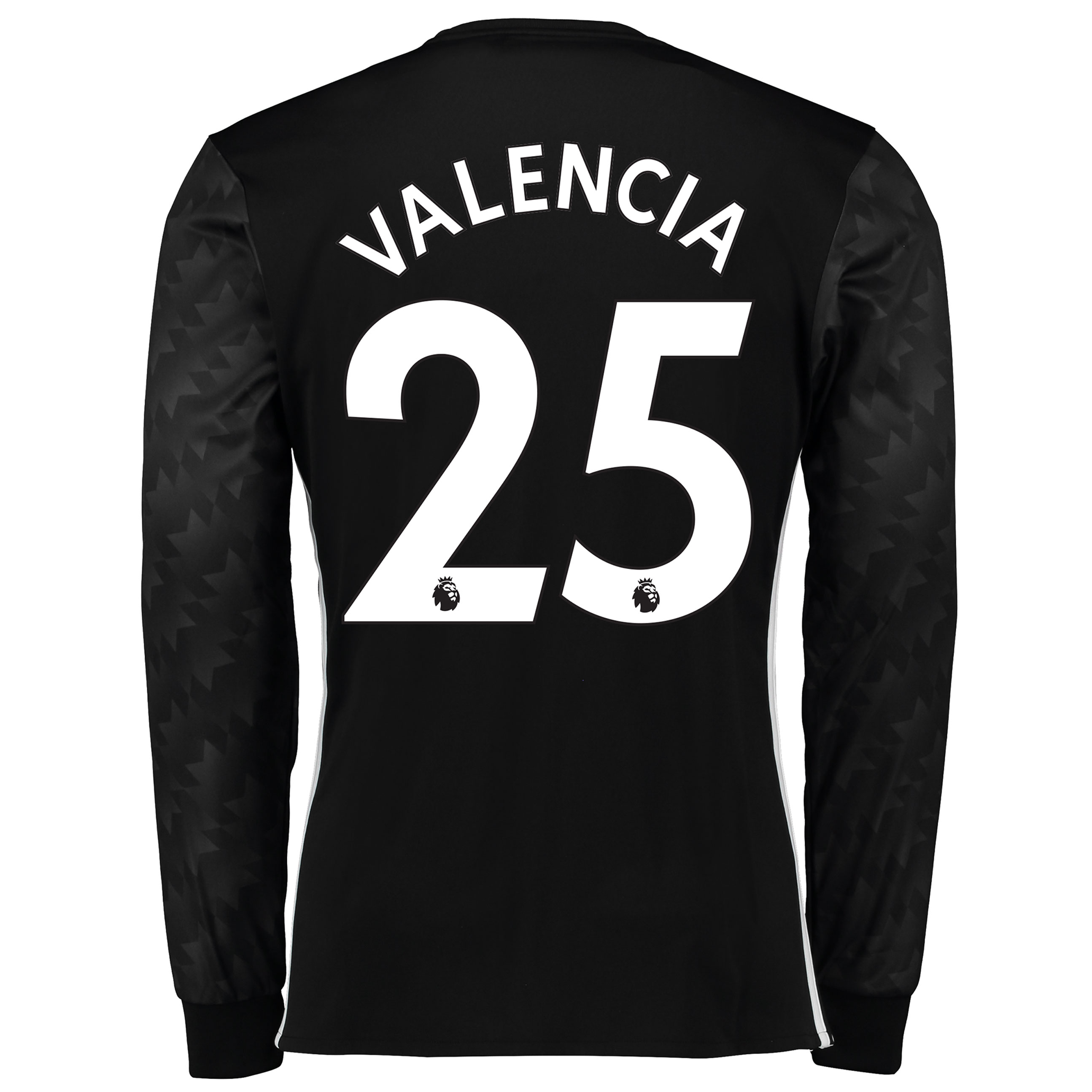 Manchester United Away Shirt 2017-18 - Long Sleeve with Valencia 25 pr