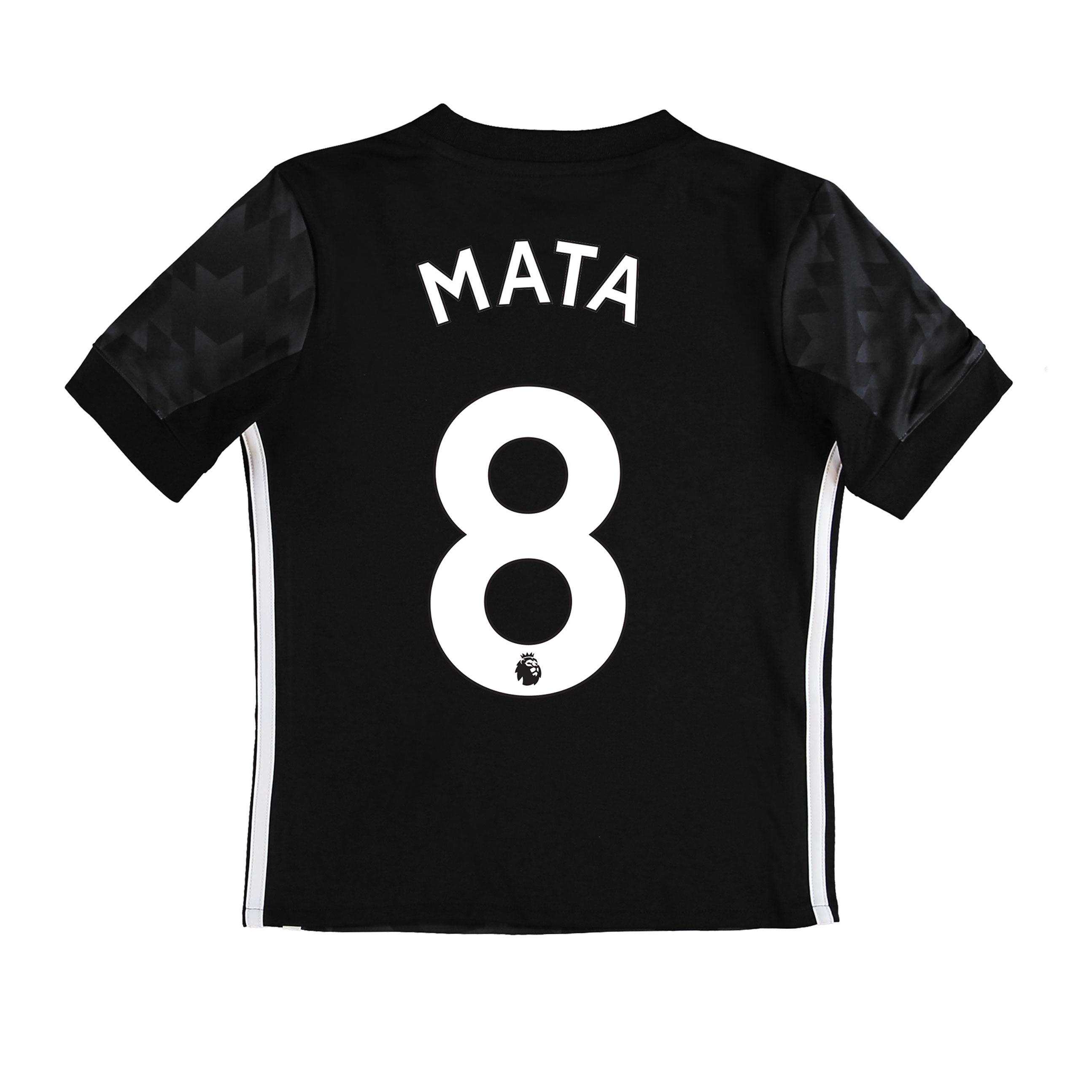 Manchester United Away Shirt 2017-18 - Kids with Mata 8 printing