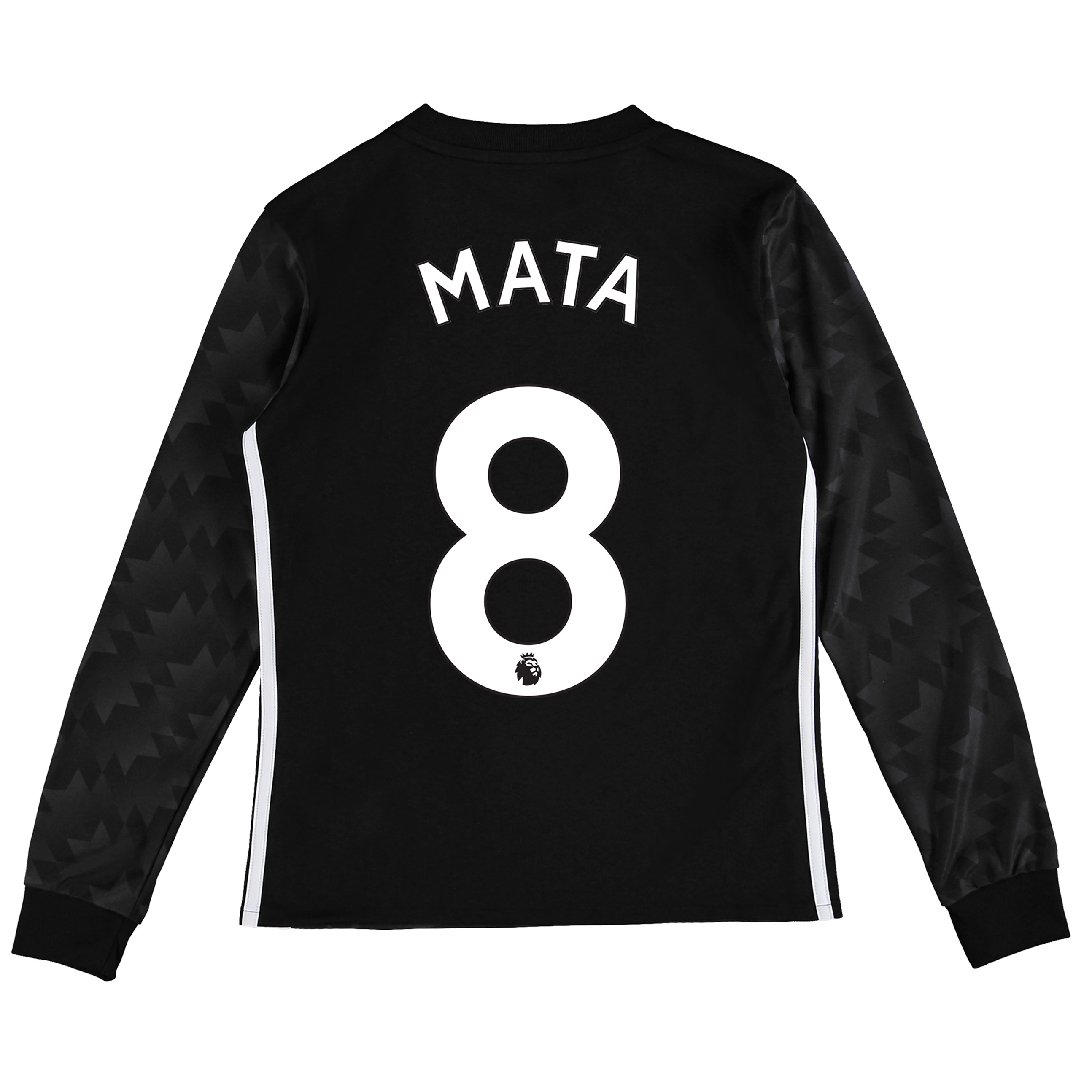 Manchester United Away Shirt 2017-18 - Kids - Long Sleeve with Mata 8