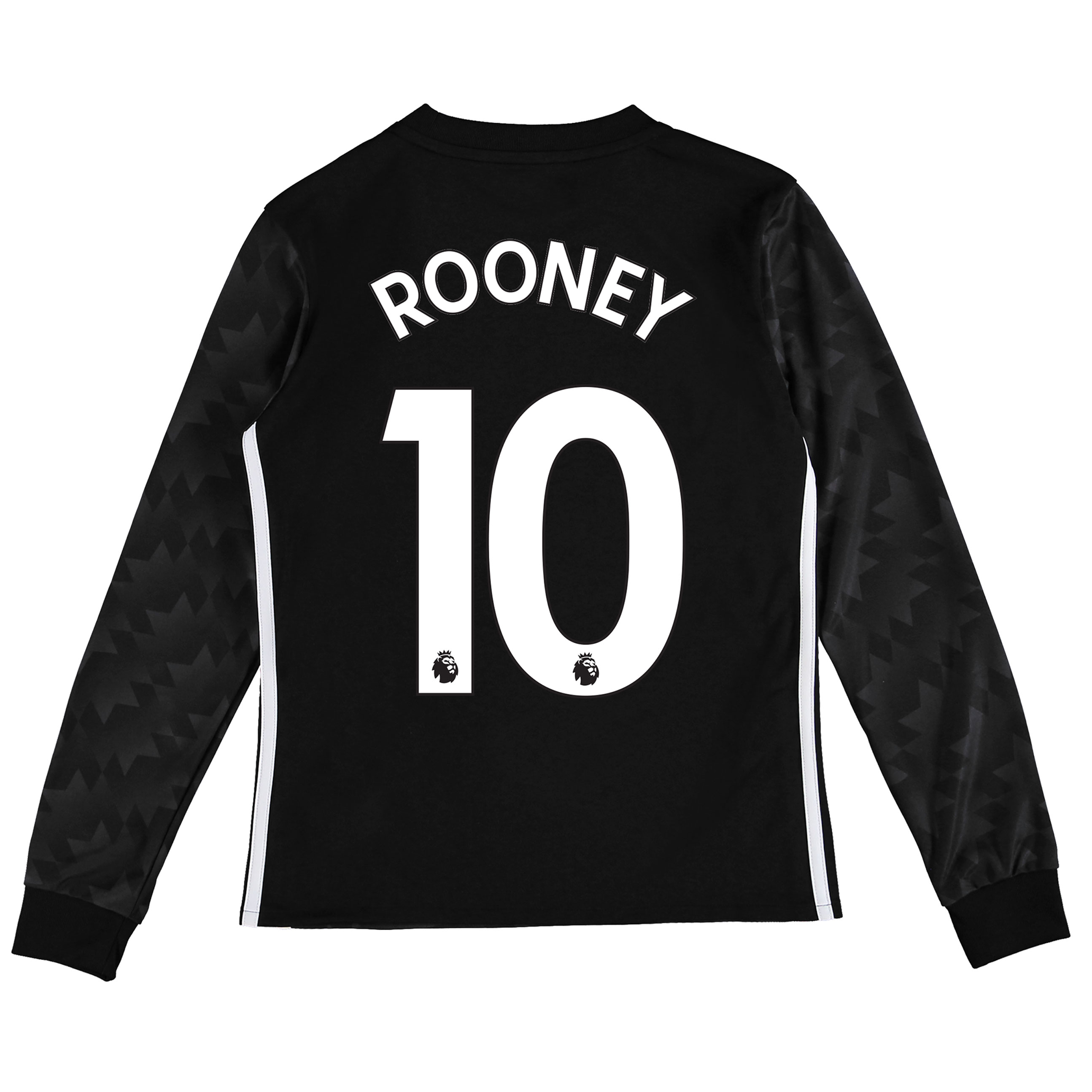 Manchester United Away Shirt 2017-18 - Kids - Long Sleeve with Rooney