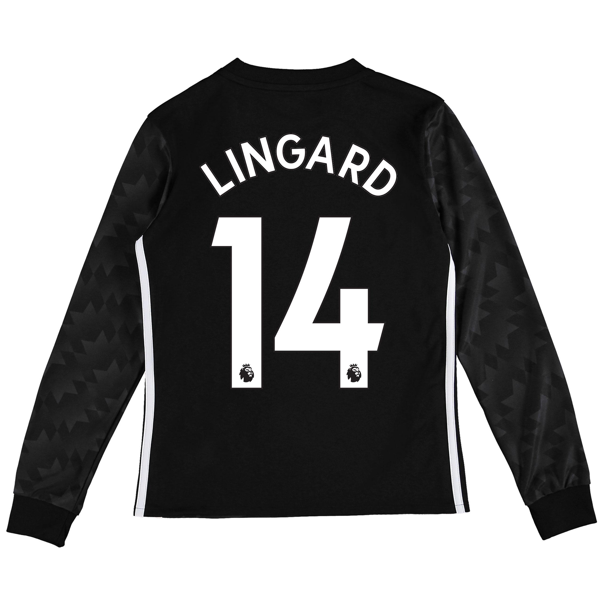 Manchester United Away Shirt 2017-18 - Kids - Long Sleeve with Lingard