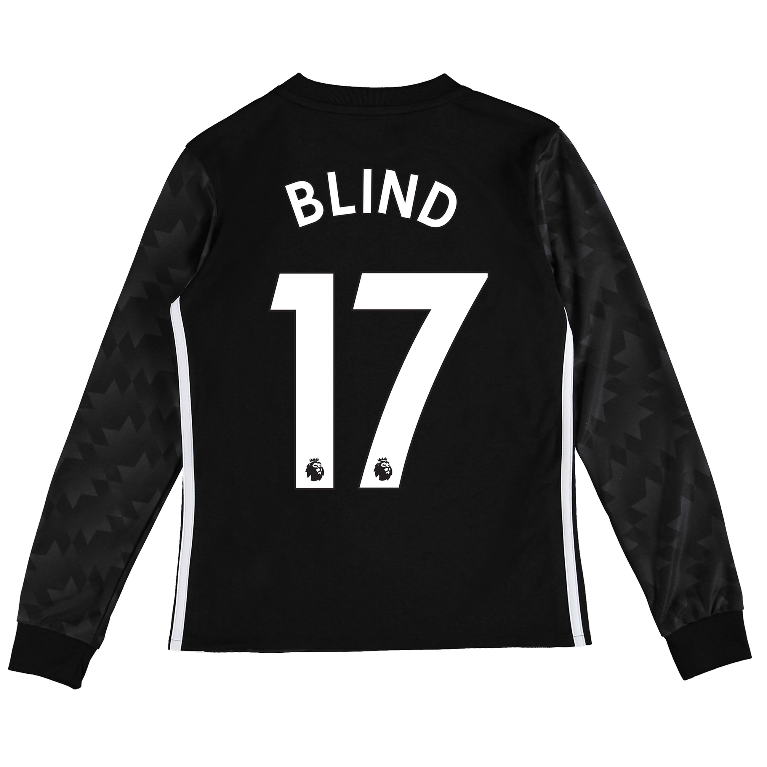 Manchester United Away Shirt 2017-18 - Kids - Long Sleeve with Blind 1