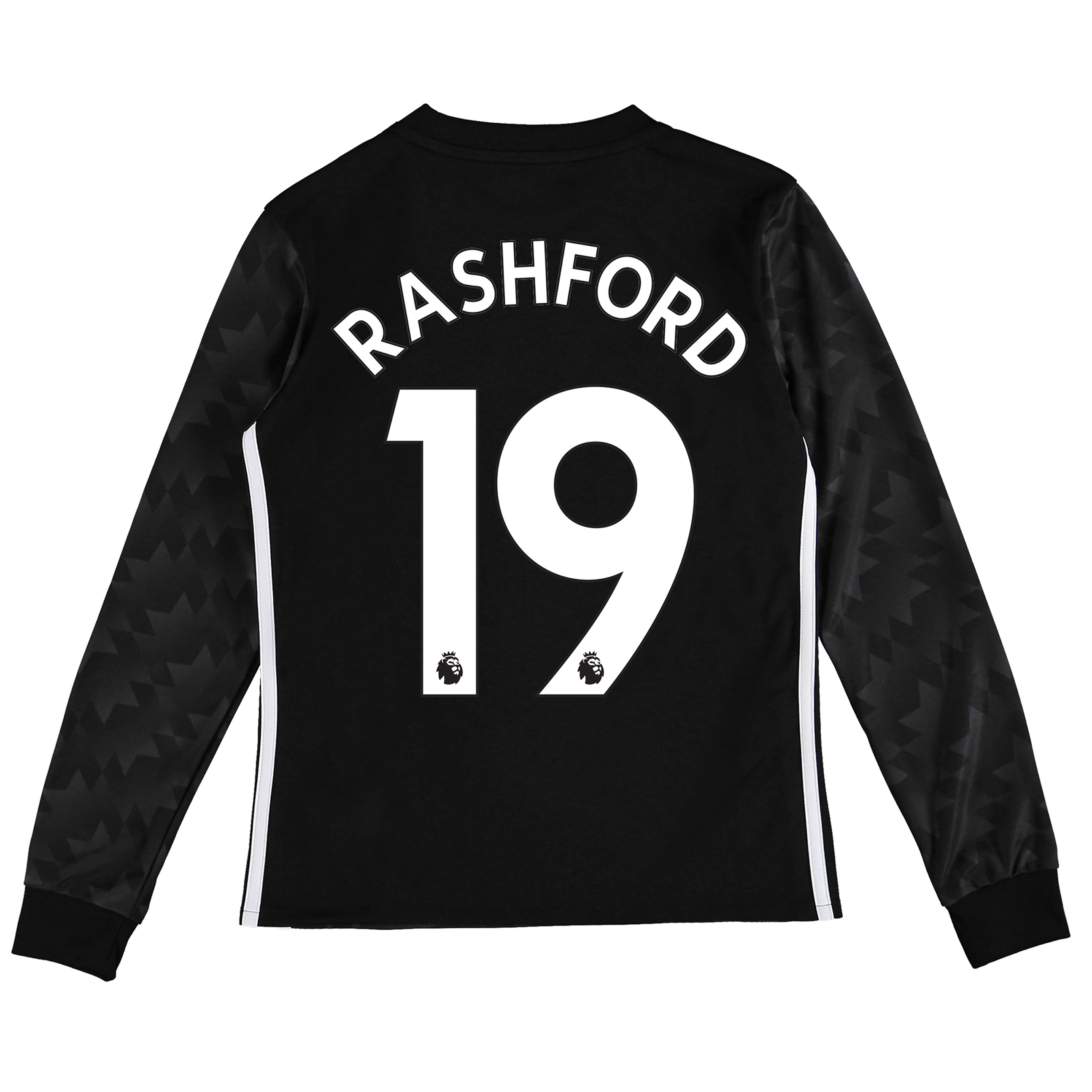 Manchester United Away Shirt 2017-18 - Kids - Long Sleeve with Rashfor