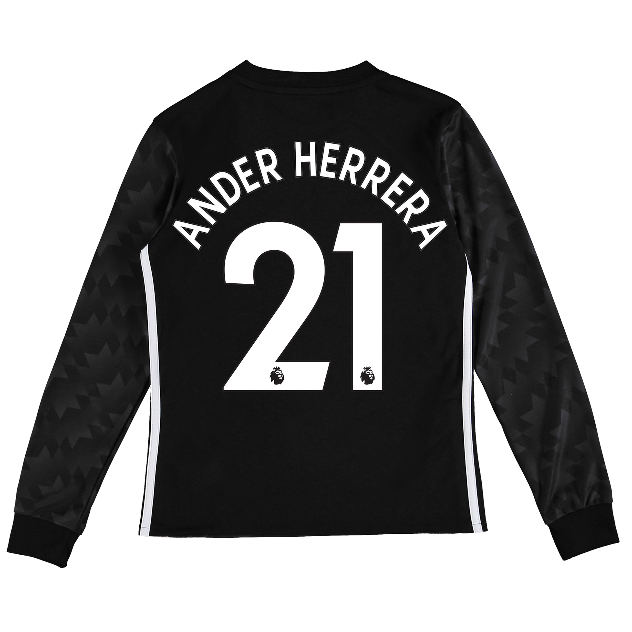 Manchester United Away Shirt 2017-18 - Kids - Long Sleeve with Ander H
