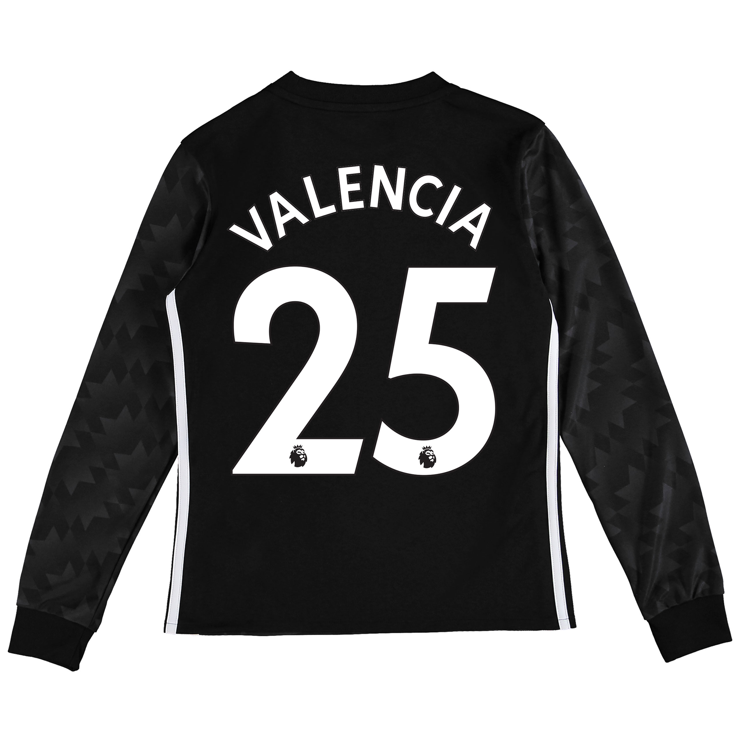 Manchester United Away Shirt 2017-18 - Kids - Long Sleeve with Valenci